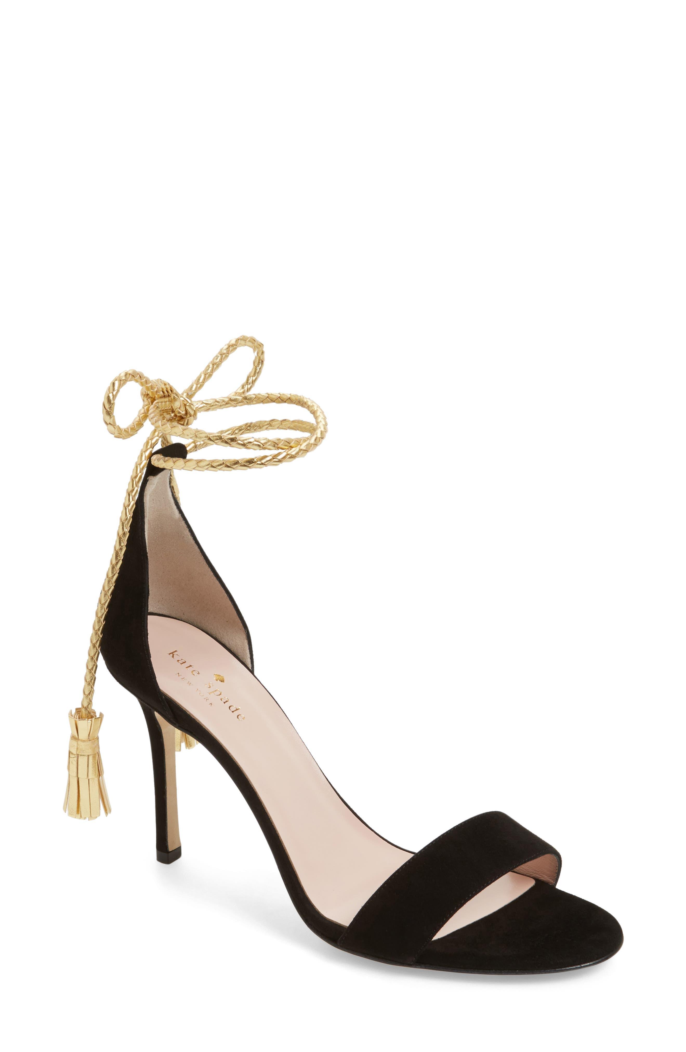 inez wraparound sandal,                             Main thumbnail 1, color,                             001