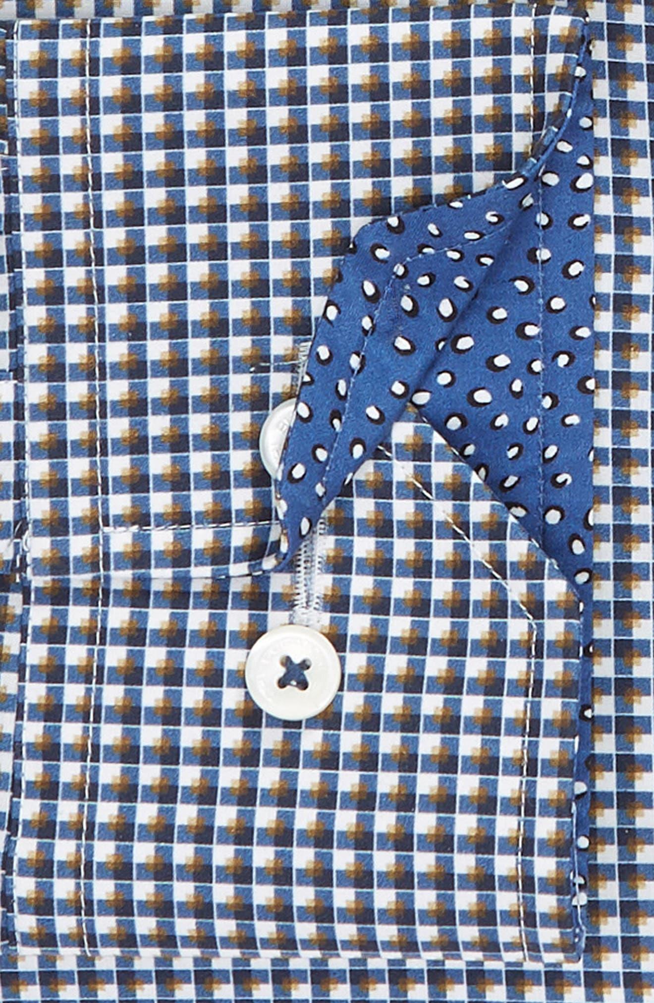 Trim Fit Check Dress Shirt,                             Alternate thumbnail 2, color,                             CARAMEL