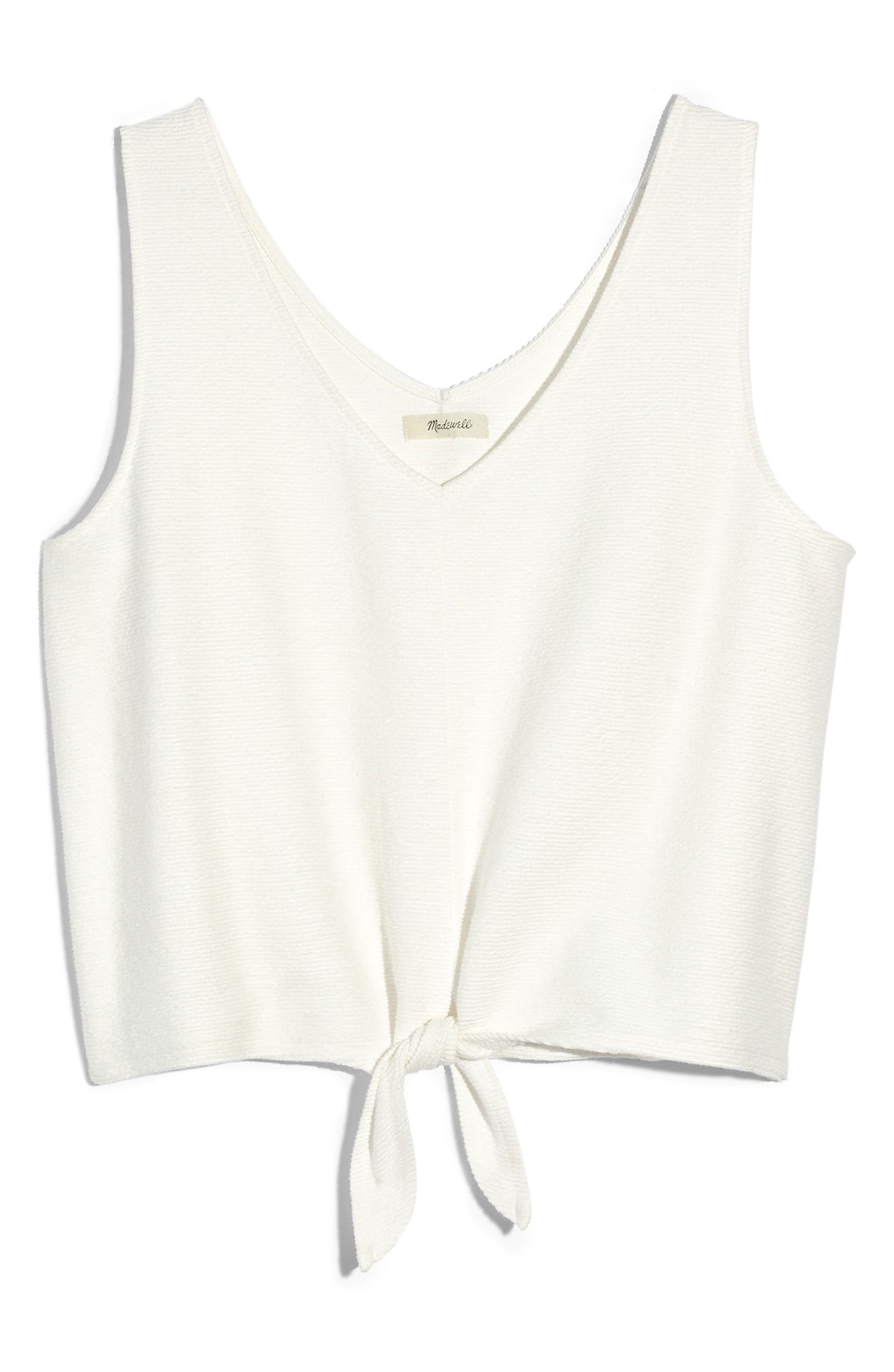 37eb8f8e9bd Madewell Texture   Thread Tie Front Tank