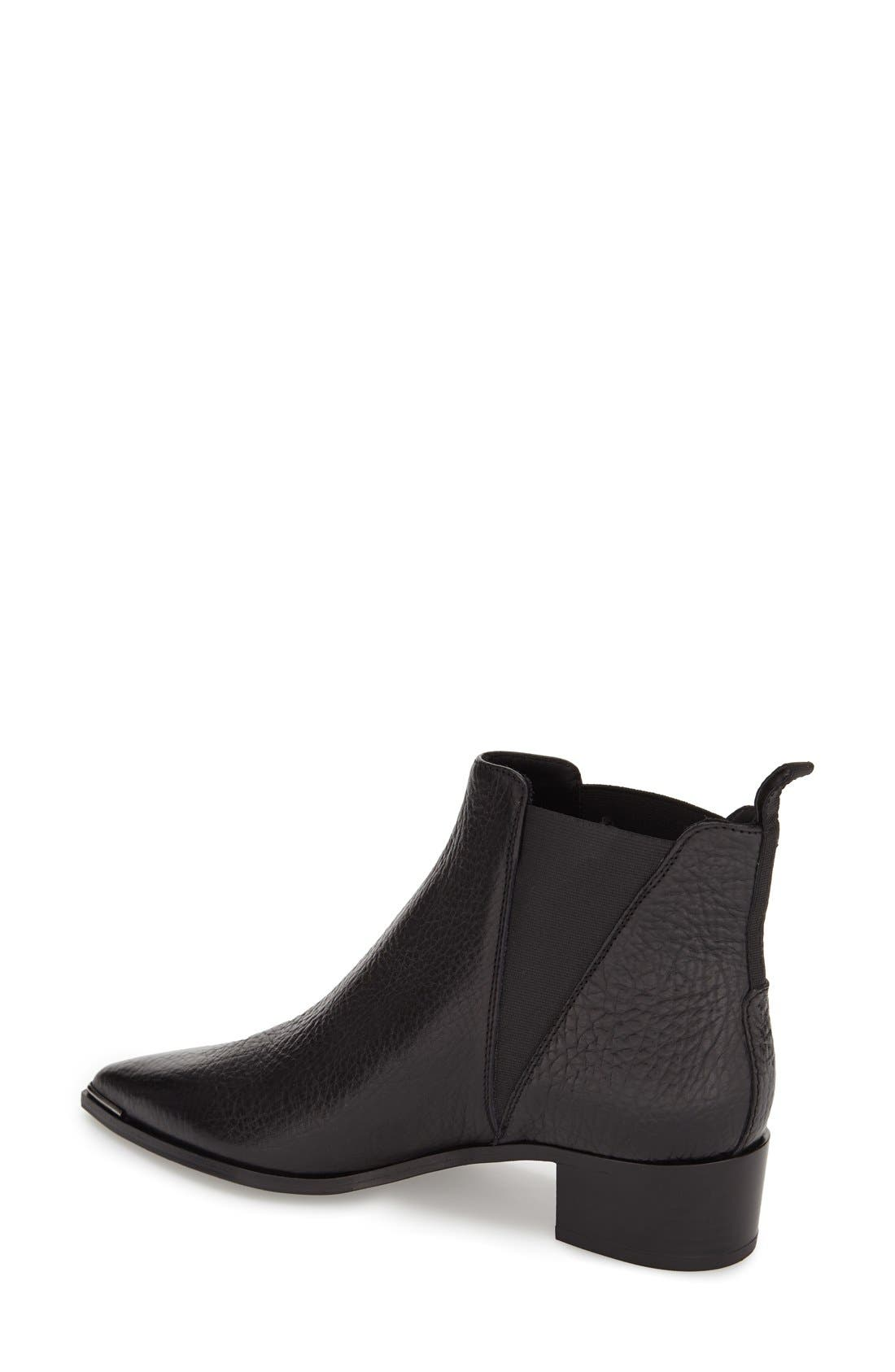 Jensen Pointy Toe Bootie,                             Alternate thumbnail 2, color,                             BLACK GRAIN LEATHER