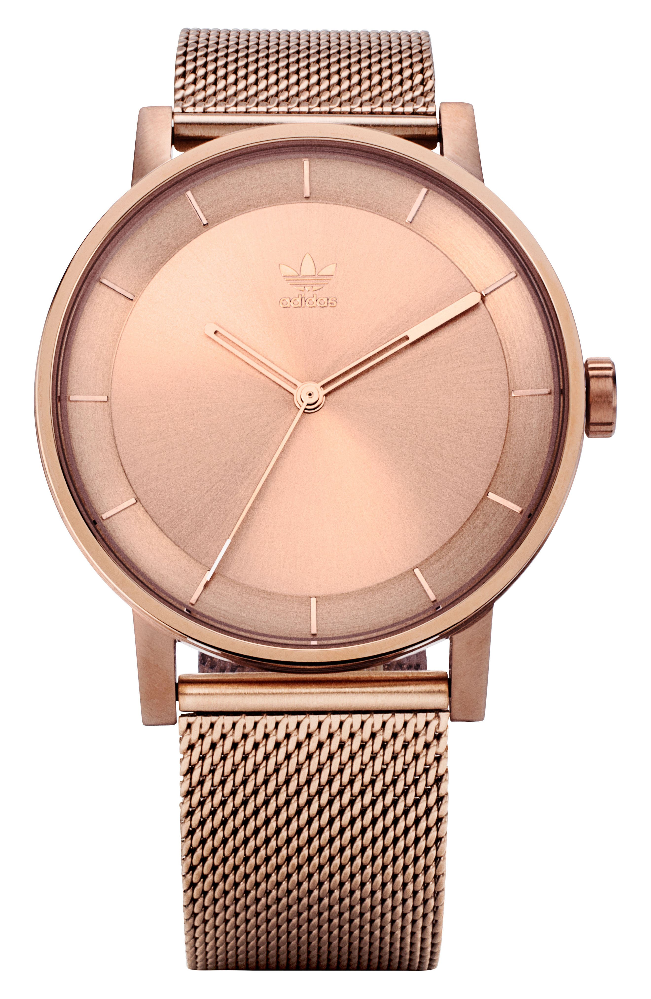 District Milanese Bracelet Watch, 40mm,                             Main thumbnail 1, color,                             ROSE GOLD