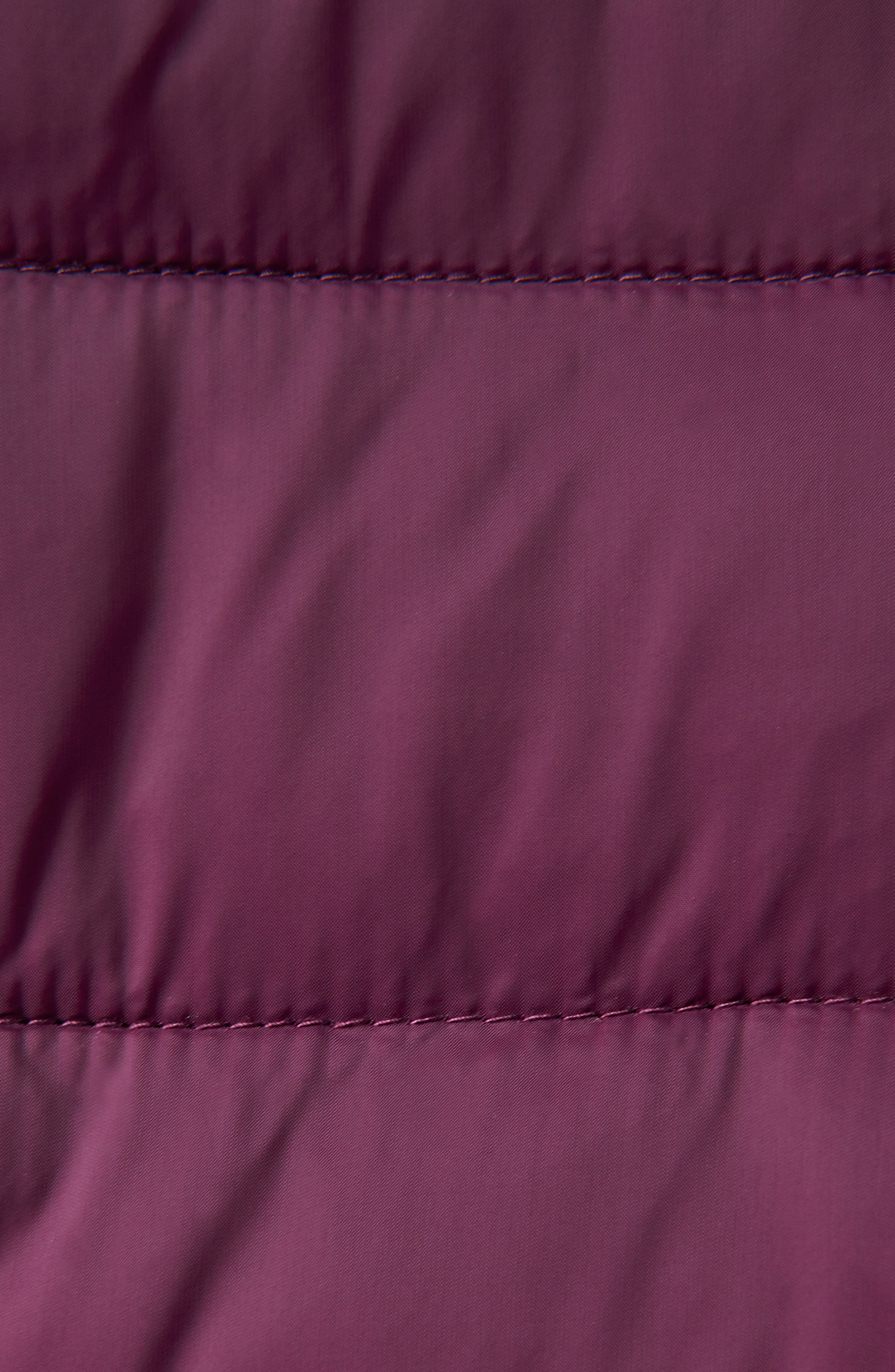 JOULES,                             Heathcote Two-Tone Puffer Jacket,                             Alternate thumbnail 9, color,                             BURGUNDY