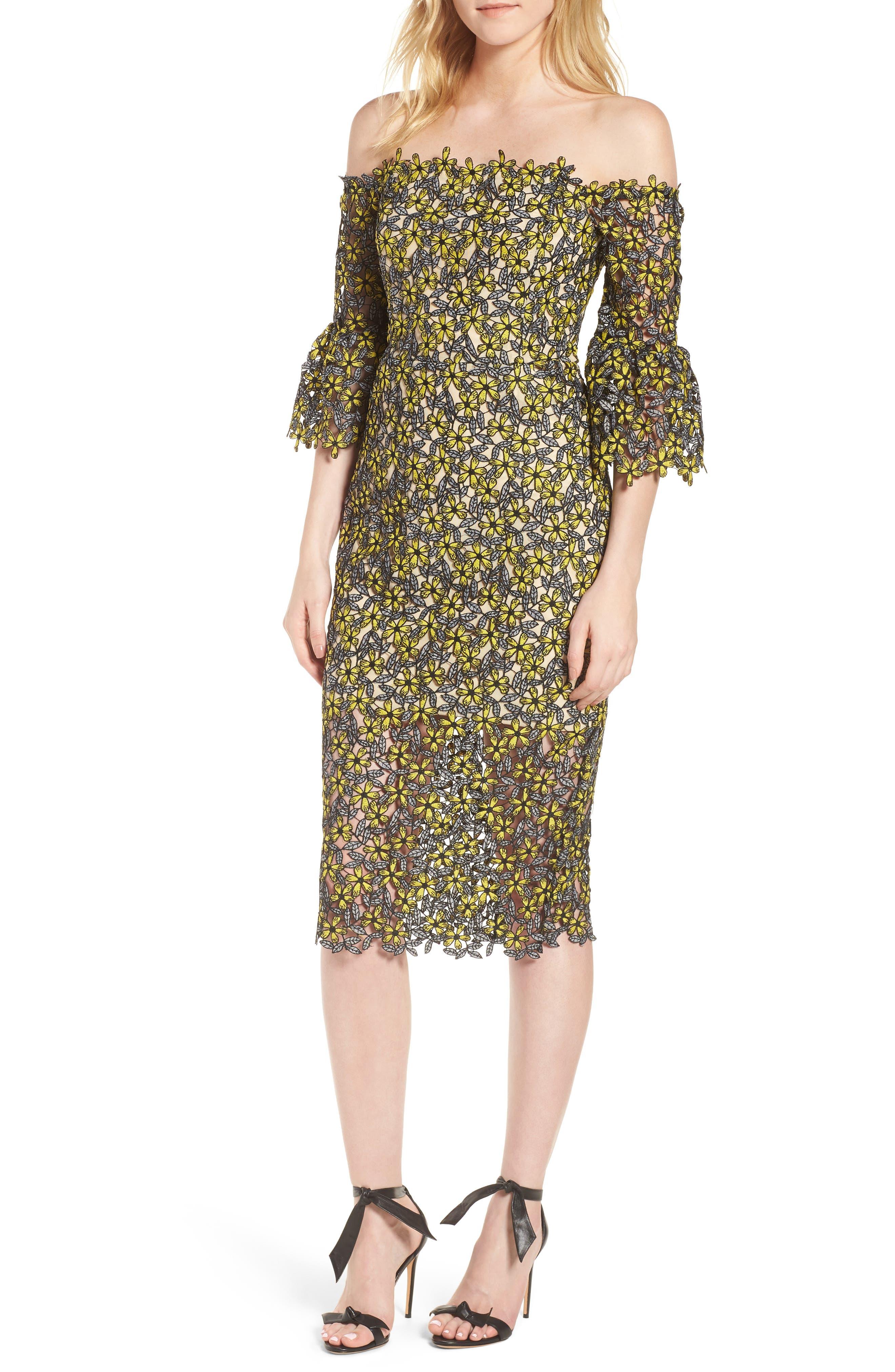 Eden Off the Shoulder Lace Dress,                         Main,                         color, 700