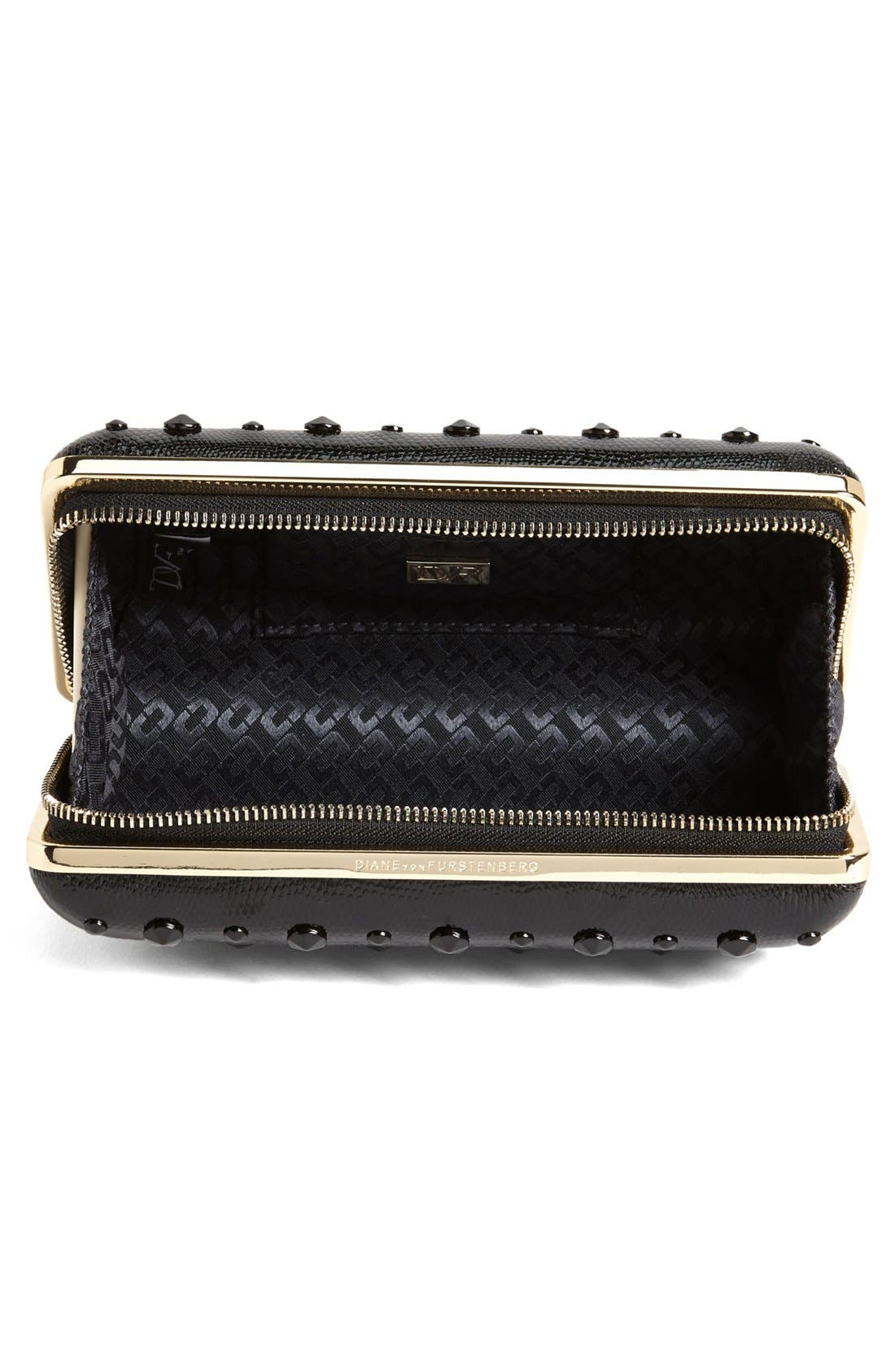 'Joia' Studded Minaudiere,                             Alternate thumbnail 3, color,                             001