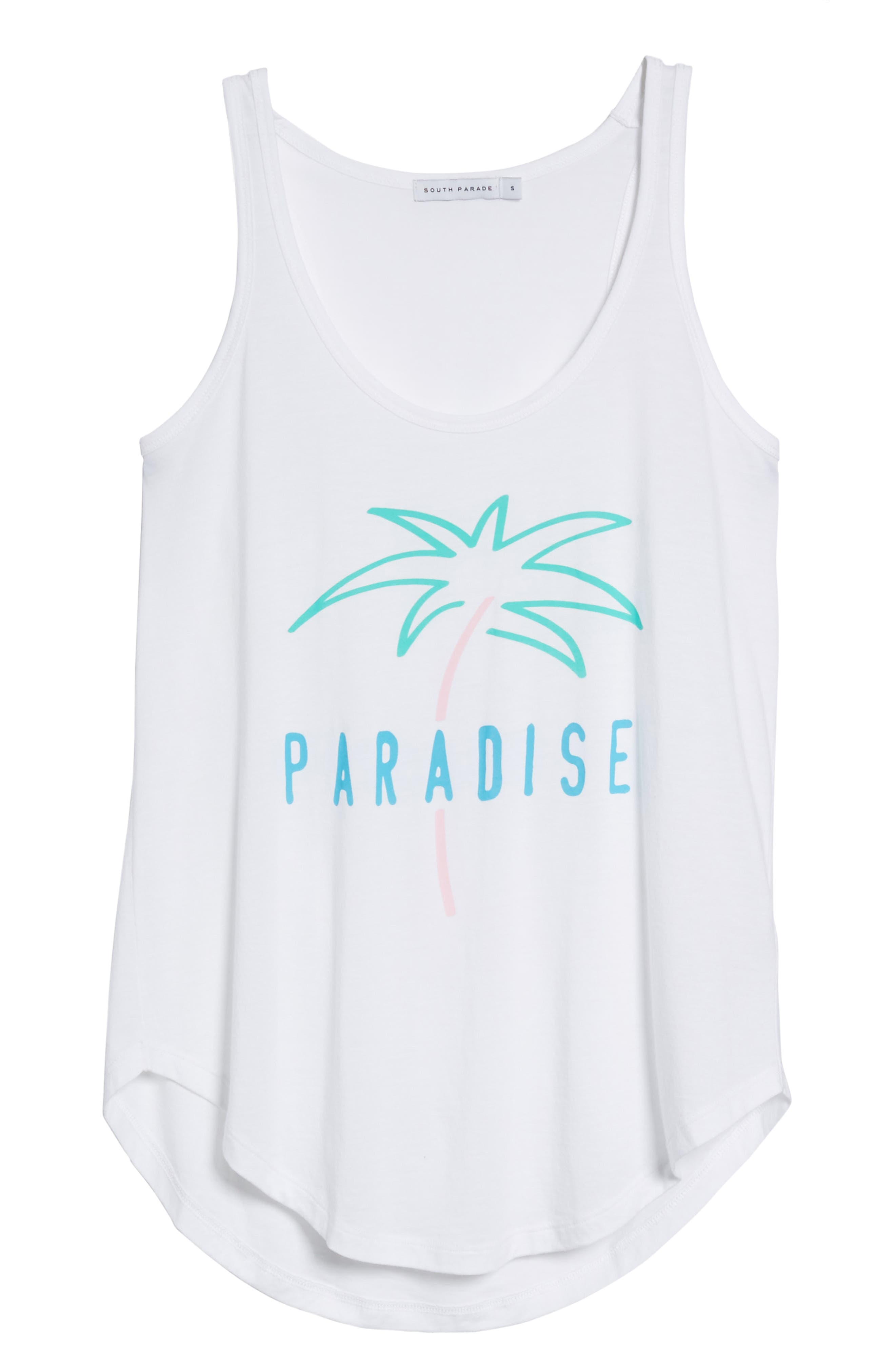 Bella - Paradise Tank,                             Alternate thumbnail 6, color,                             WHITE