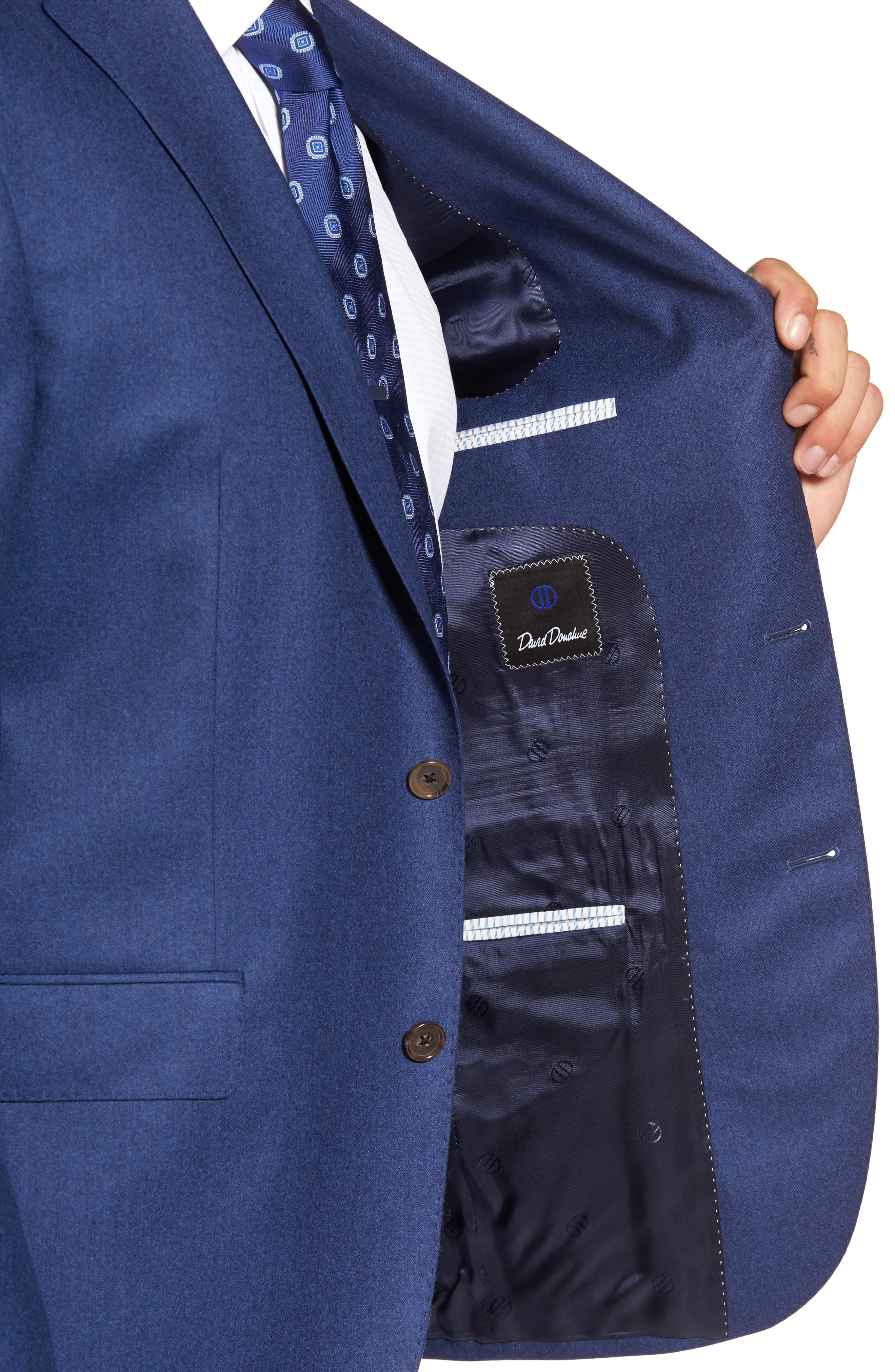 Ryan Classic Fit Solid Wool Suit,                             Alternate thumbnail 4, color,                             400