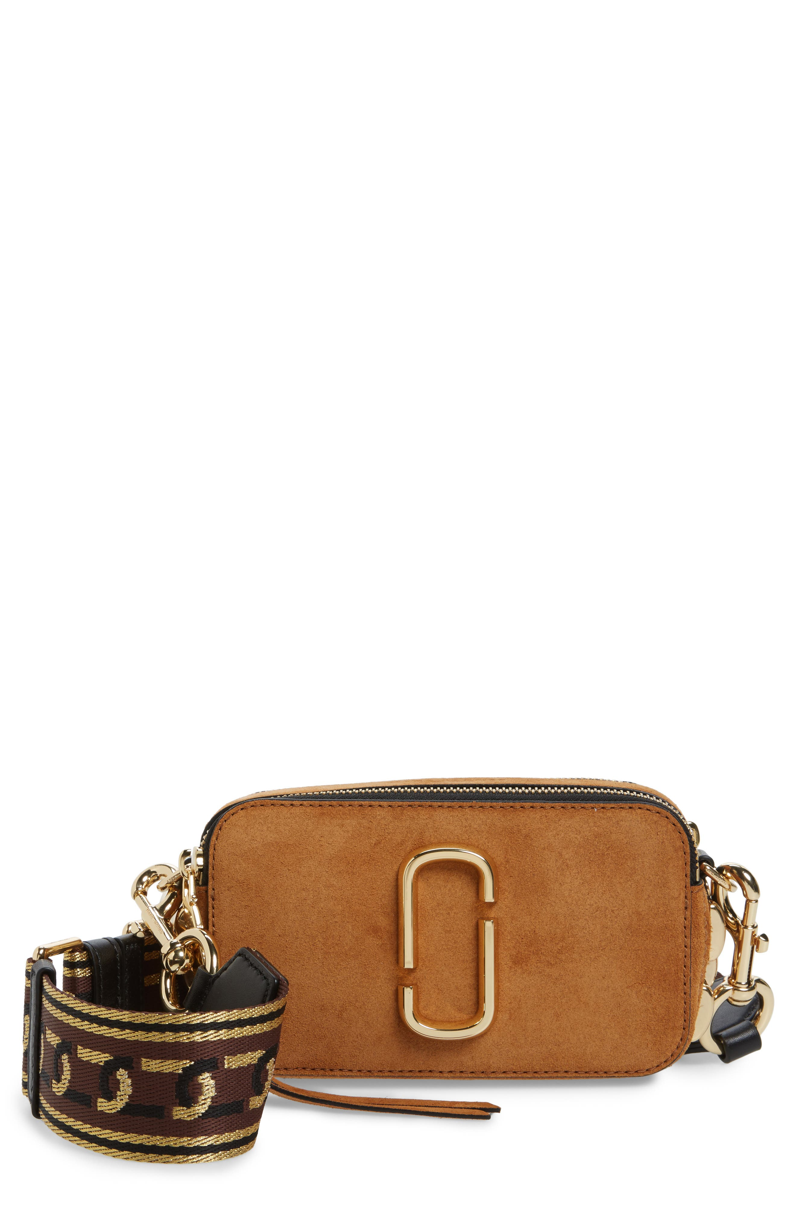Small Chain Snapshot Suede Camera Bag,                         Main,                         color, MUSTARD