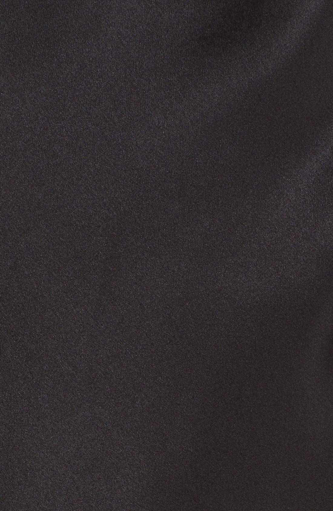 Silk Charmeuse Tank,                             Alternate thumbnail 4, color,                             BLACK