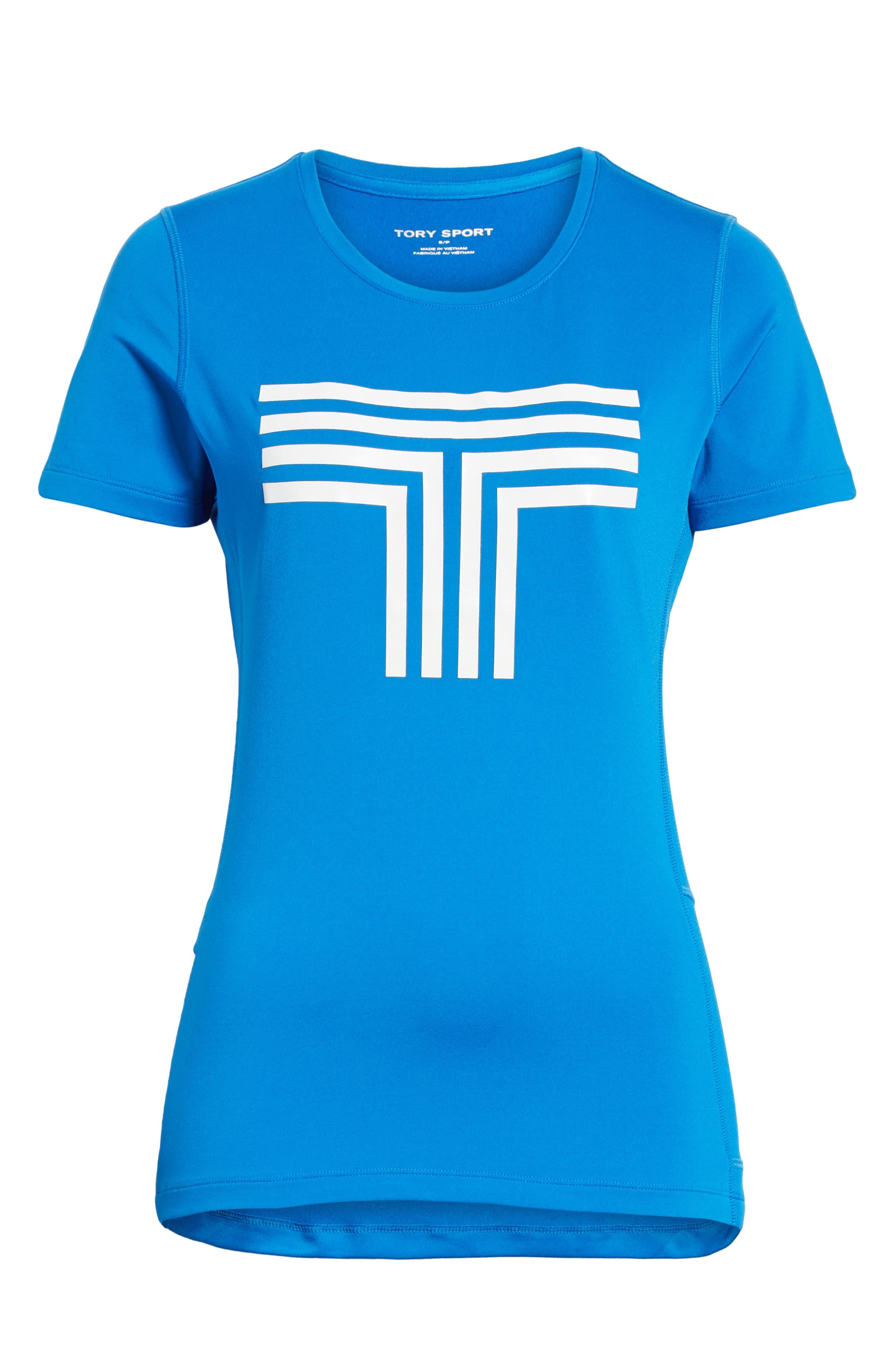 Logo Graphic Tee,                             Alternate thumbnail 7, color,                             GALLERIA BLUE