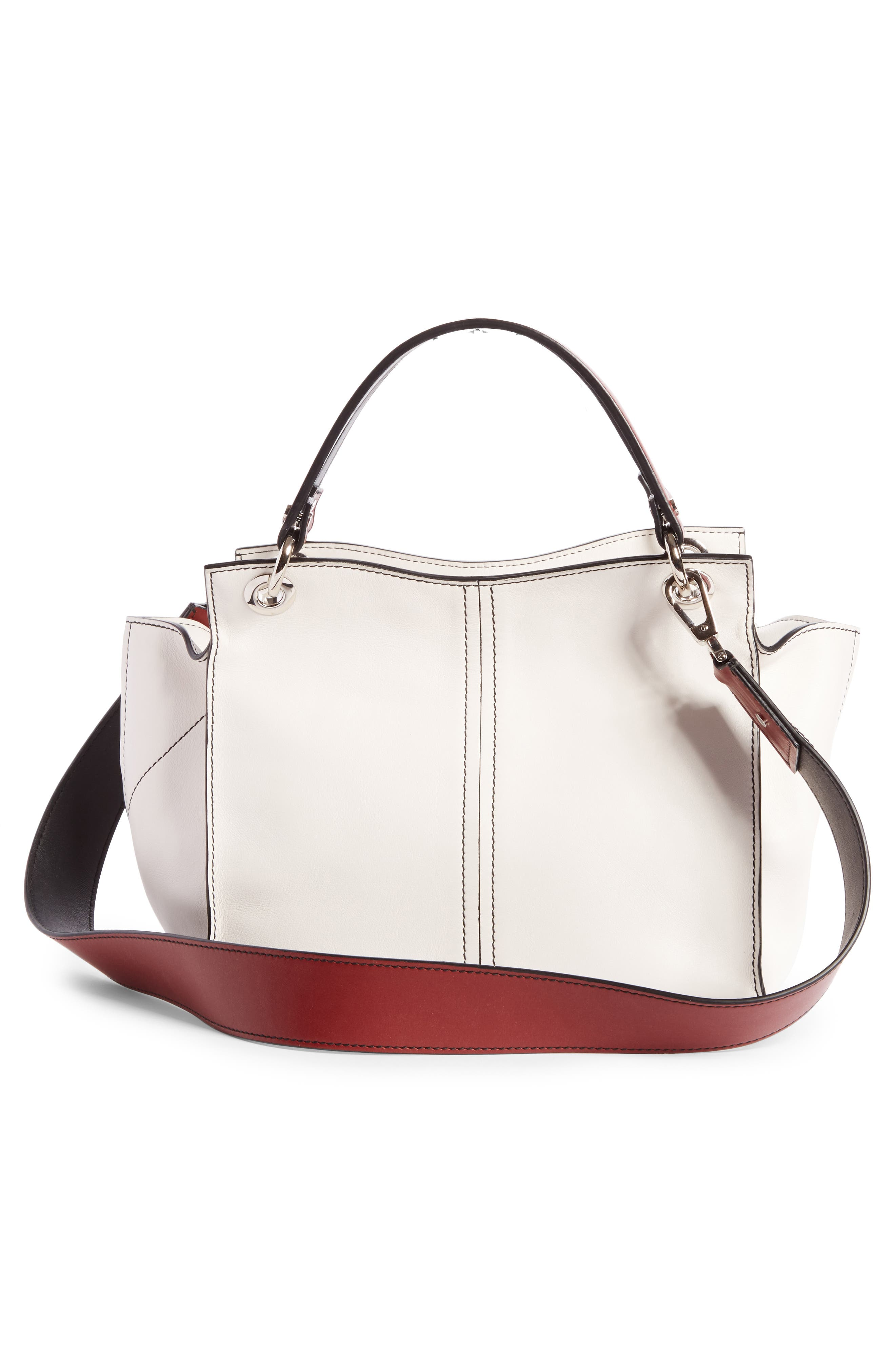 Curl Leather Shoulder Bag,                             Alternate thumbnail 3, color,