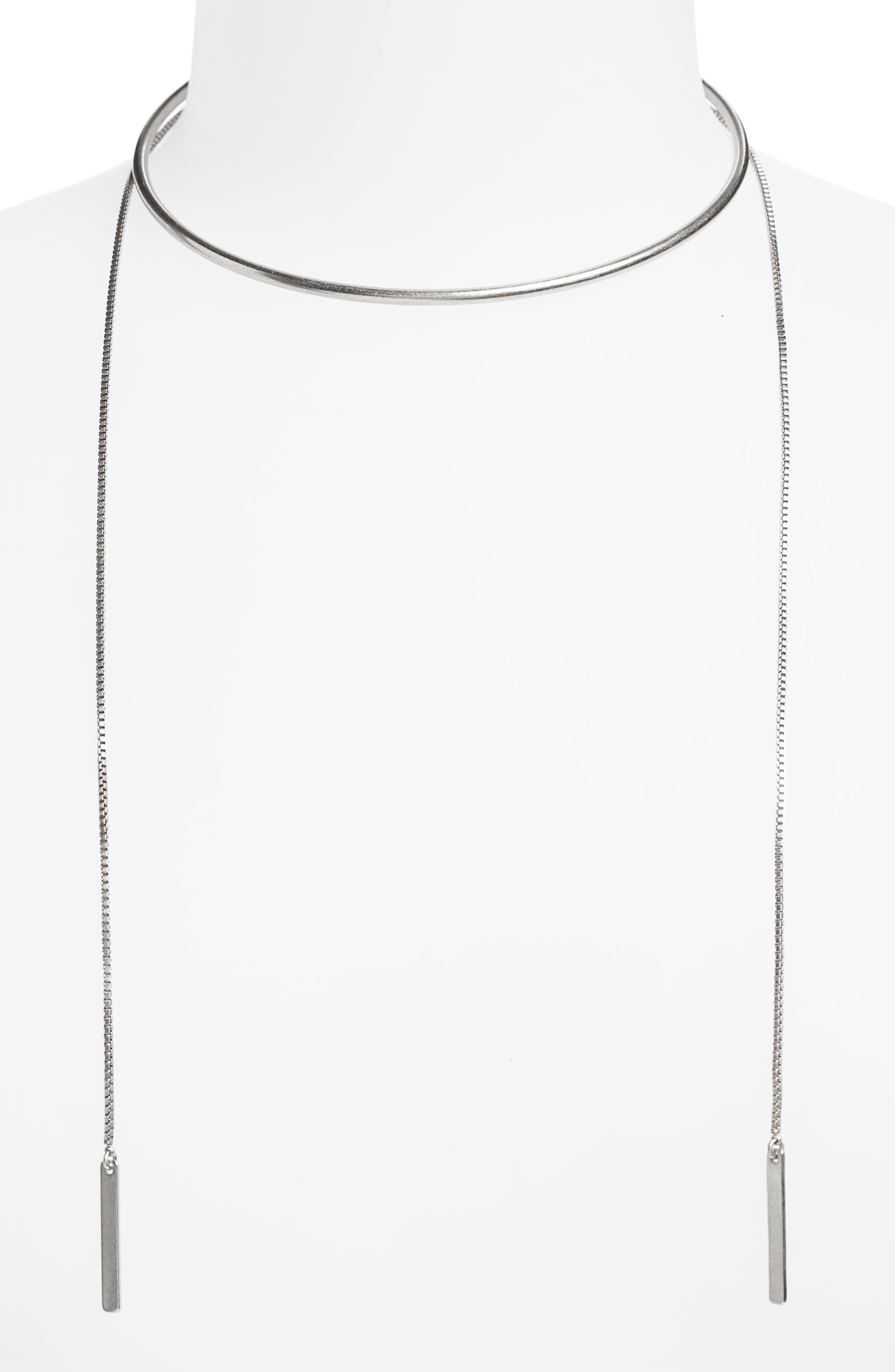 Chain Choker Necklace,                             Main thumbnail 1, color,                             040