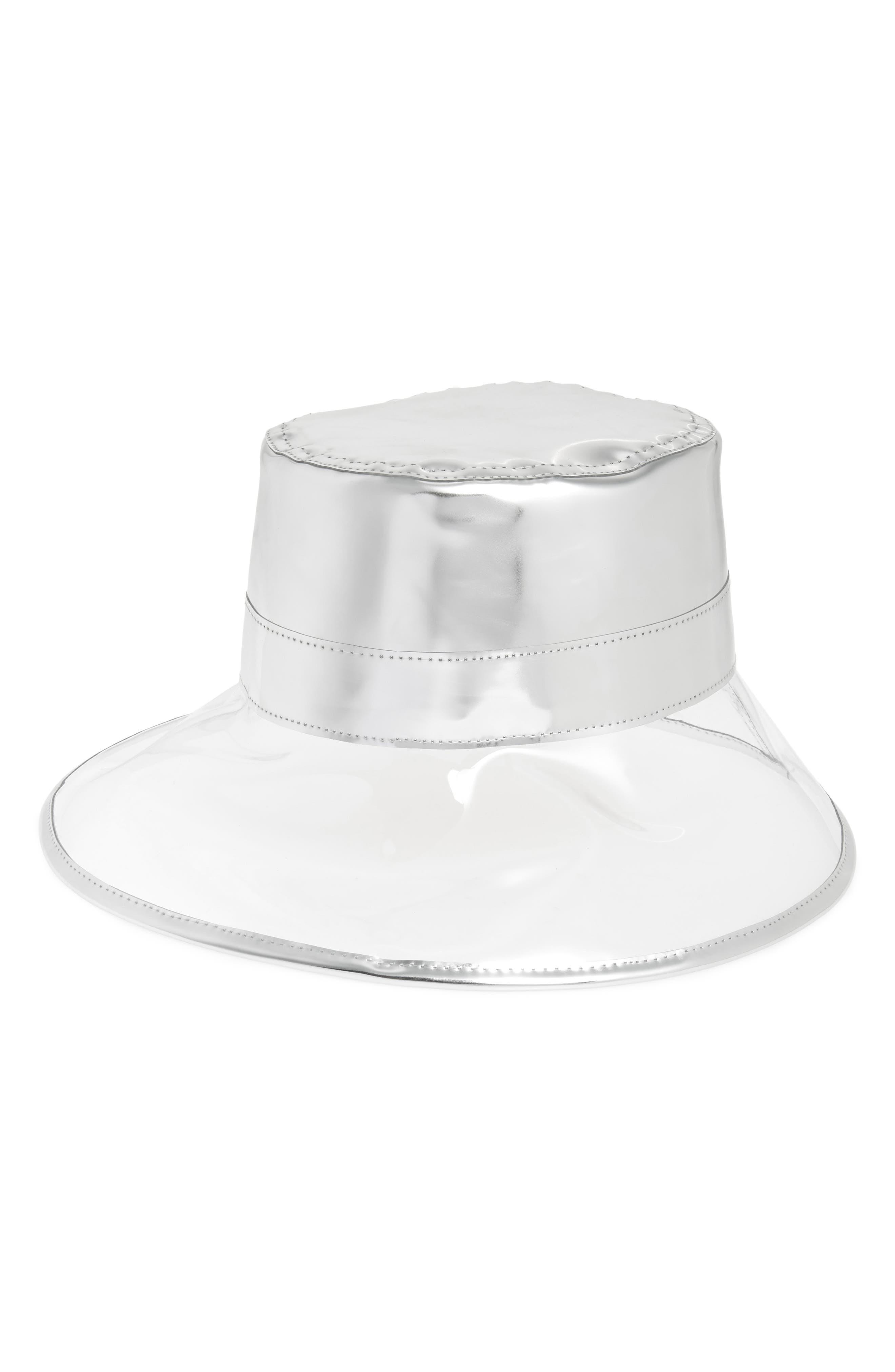 Go Go Rain Bucket Hat - Metallic in Crystal/ Silver