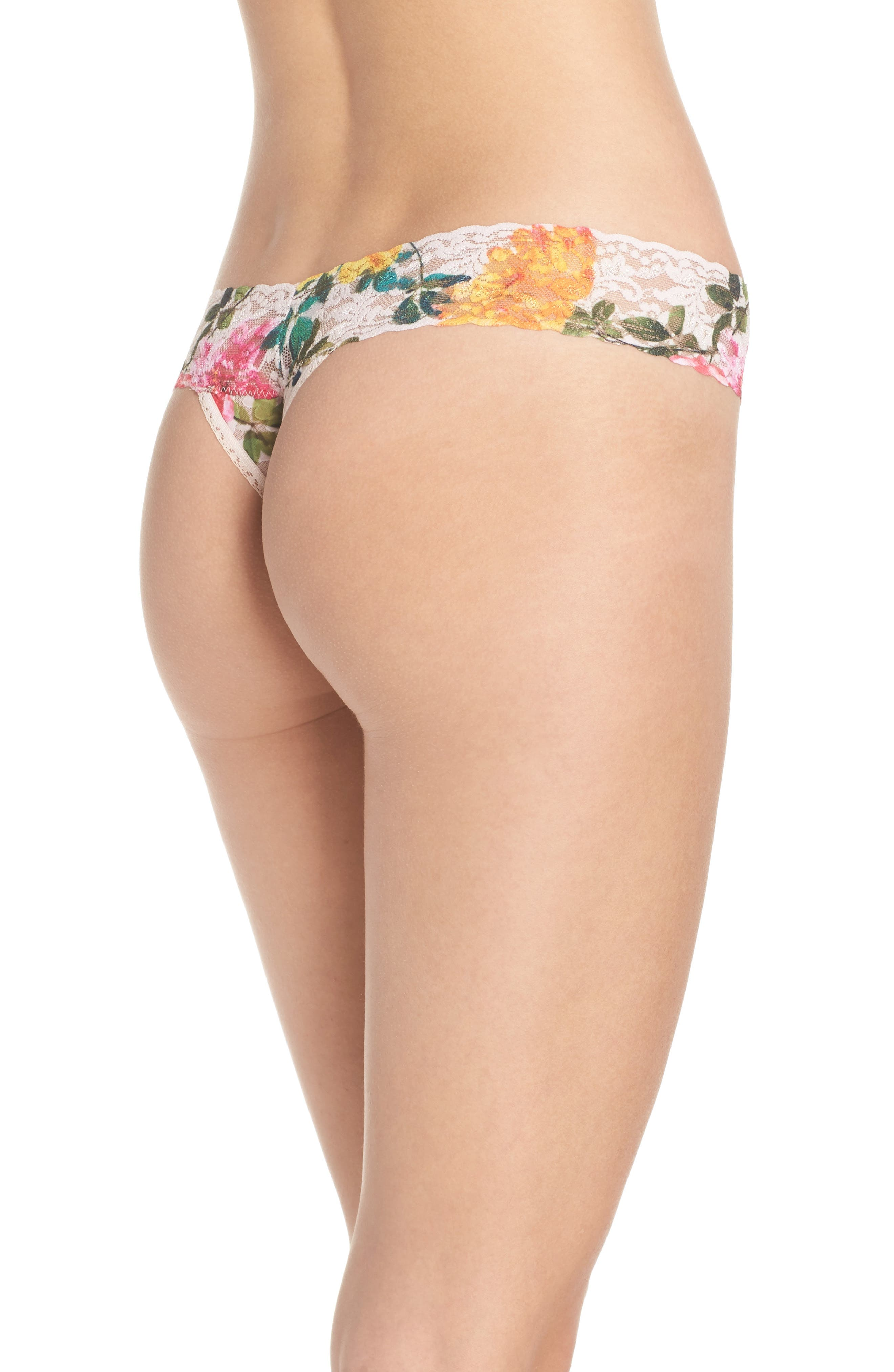 Print Low Rise Thong,                             Alternate thumbnail 35, color,