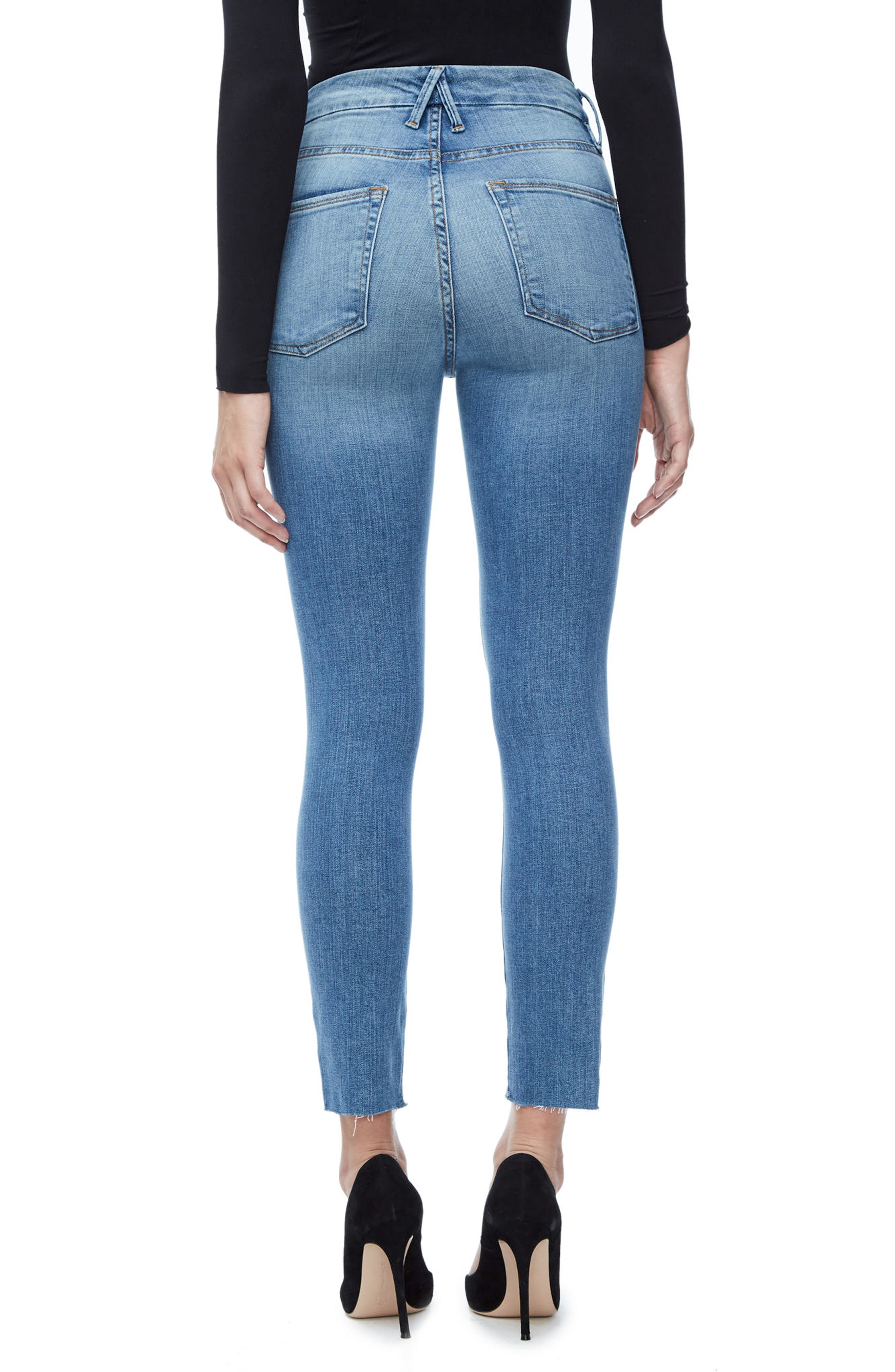 Good Legs High Waist Cascade Hem Skinny Jeans,                             Alternate thumbnail 2, color,                             401
