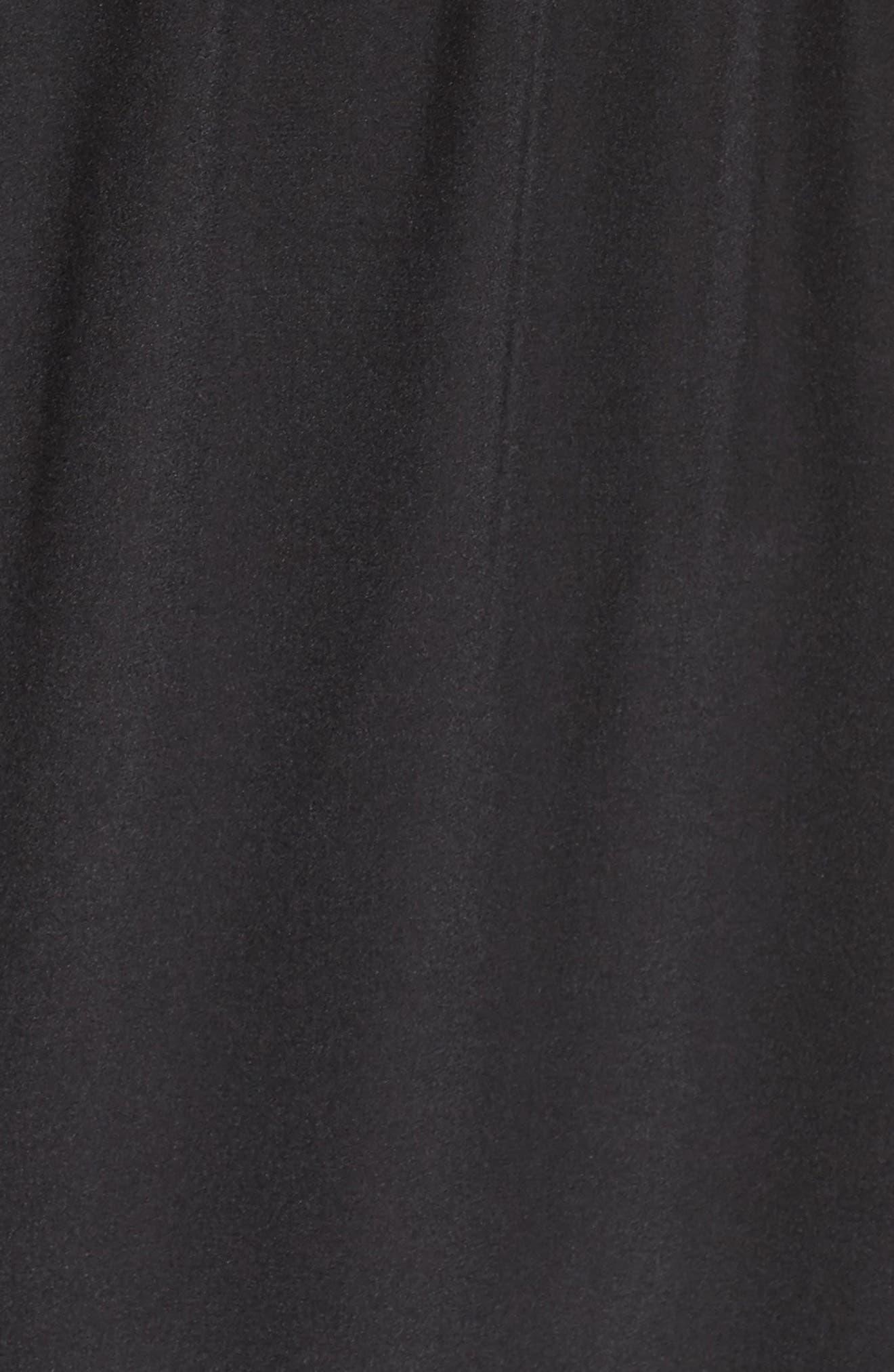 Drape Back Silk Column Gown,                             Alternate thumbnail 5, color,                             001
