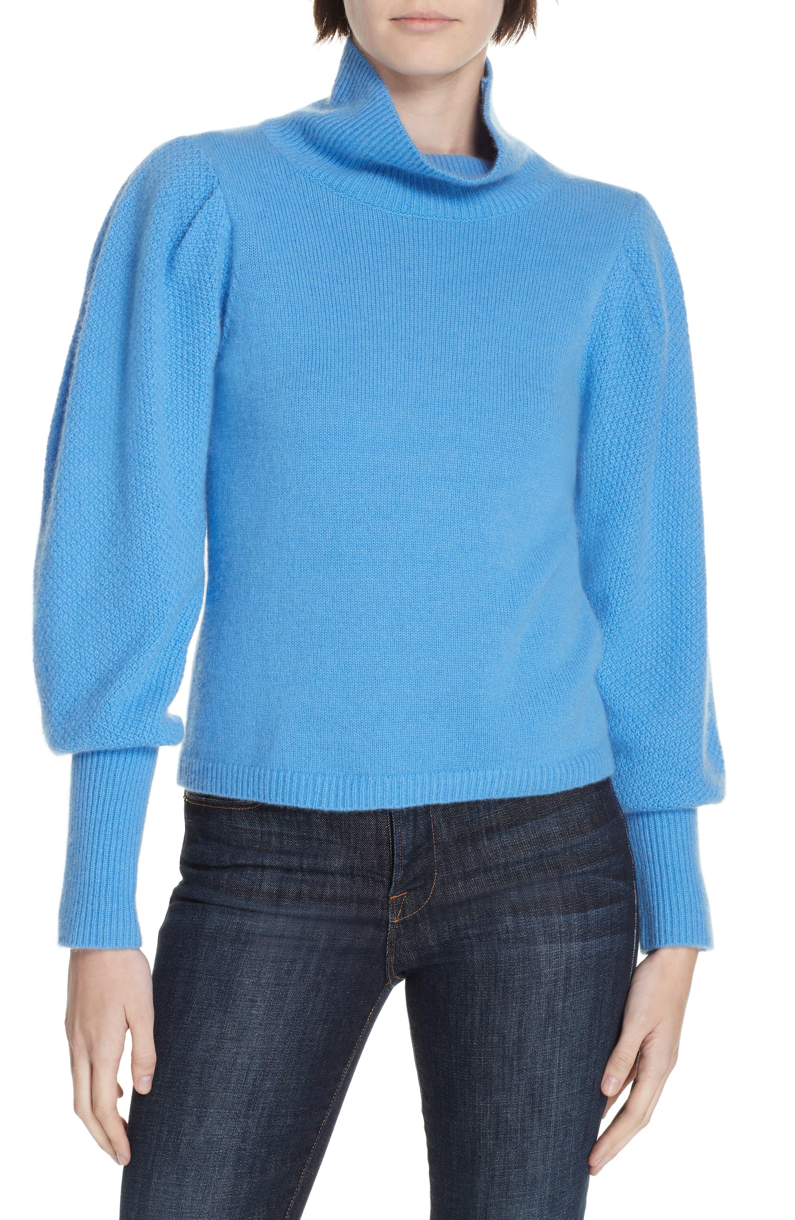 Beatrice Wool & Cashmere Sweater, Main, color, HYDRANGEA