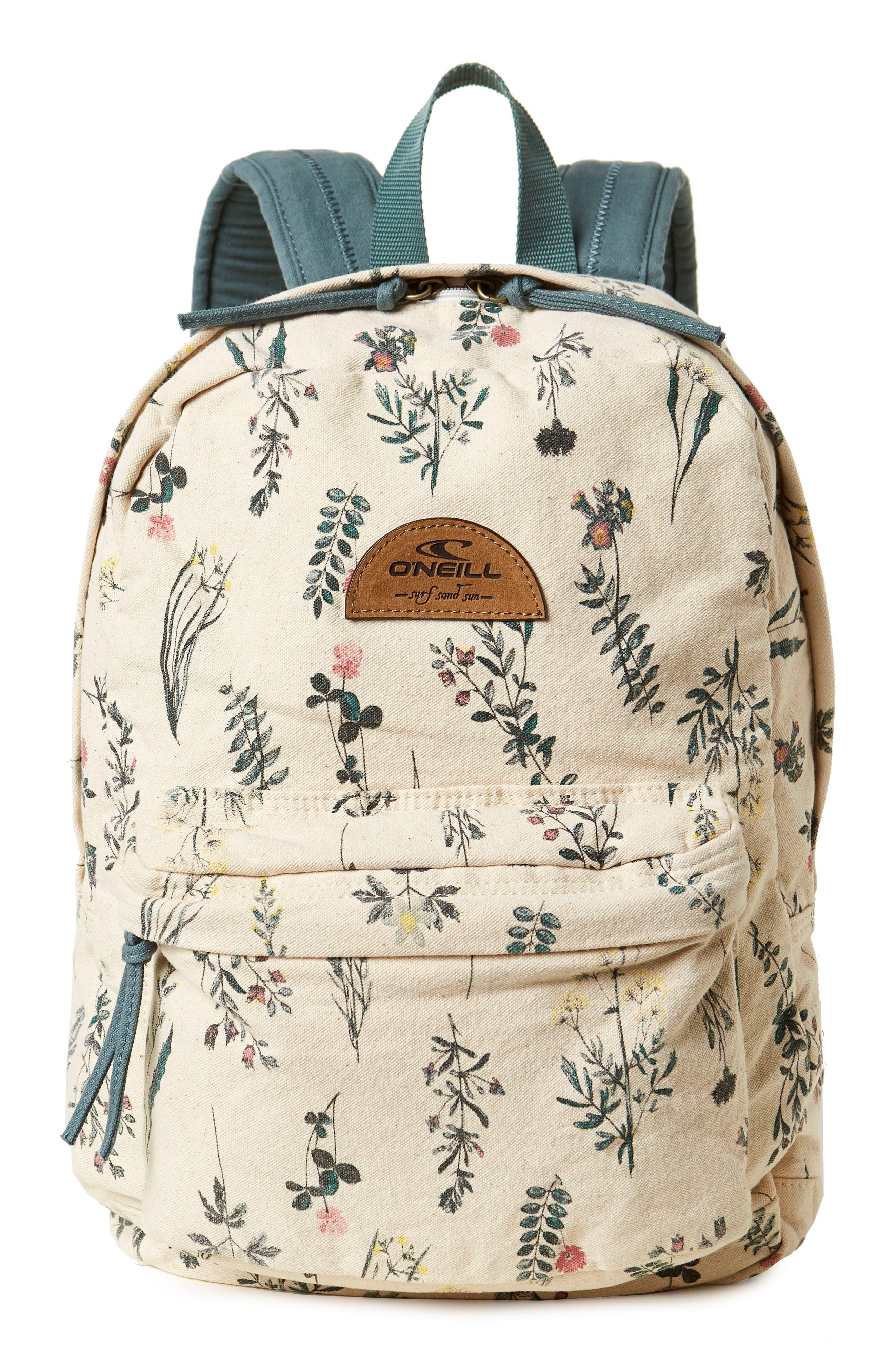 Beachblazer Print Canvas Backpack,                             Main thumbnail 1, color,                             100