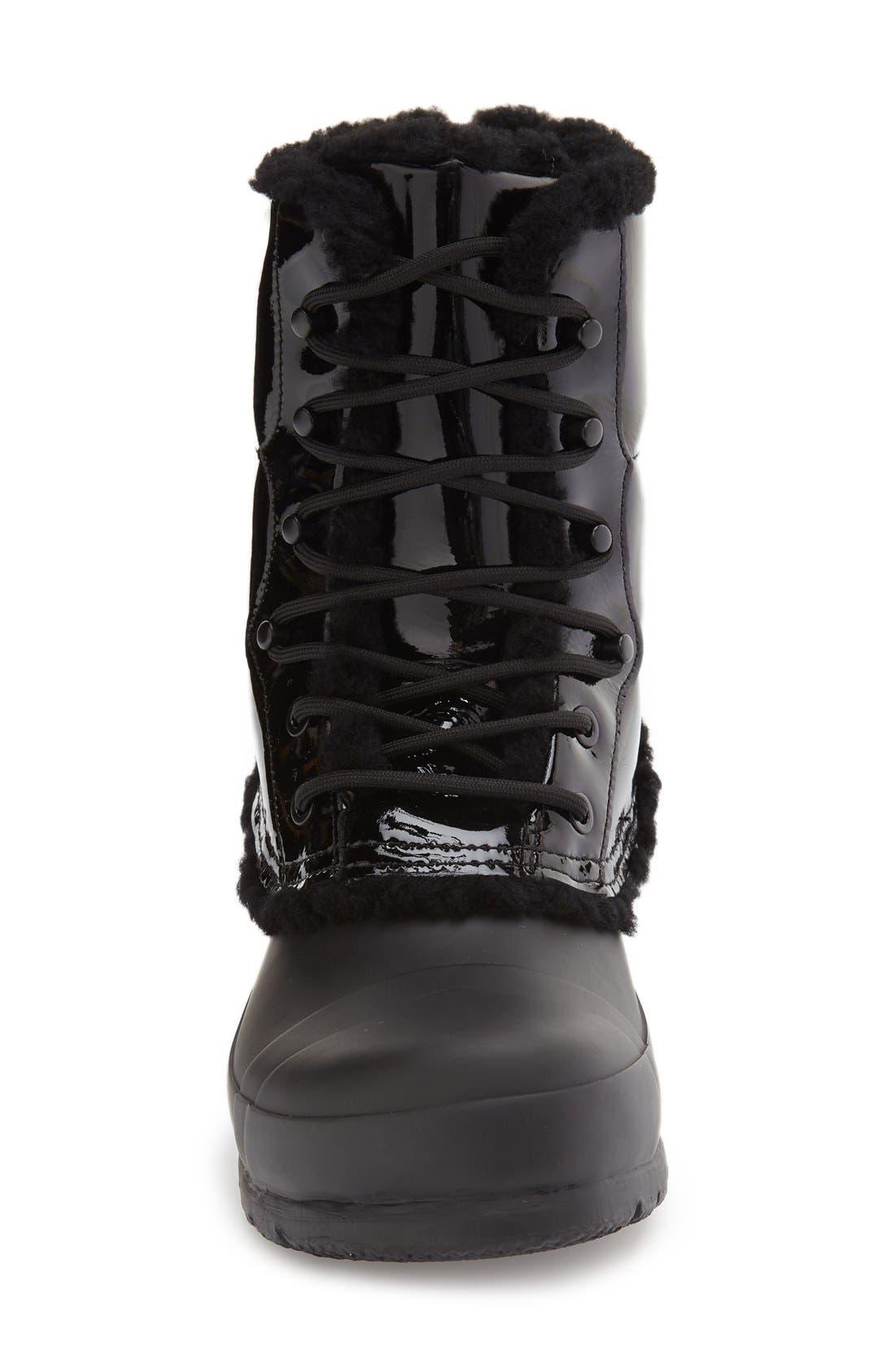 Original Genuine Shearling Lined Waterproof Boot,                             Alternate thumbnail 3, color,                             001