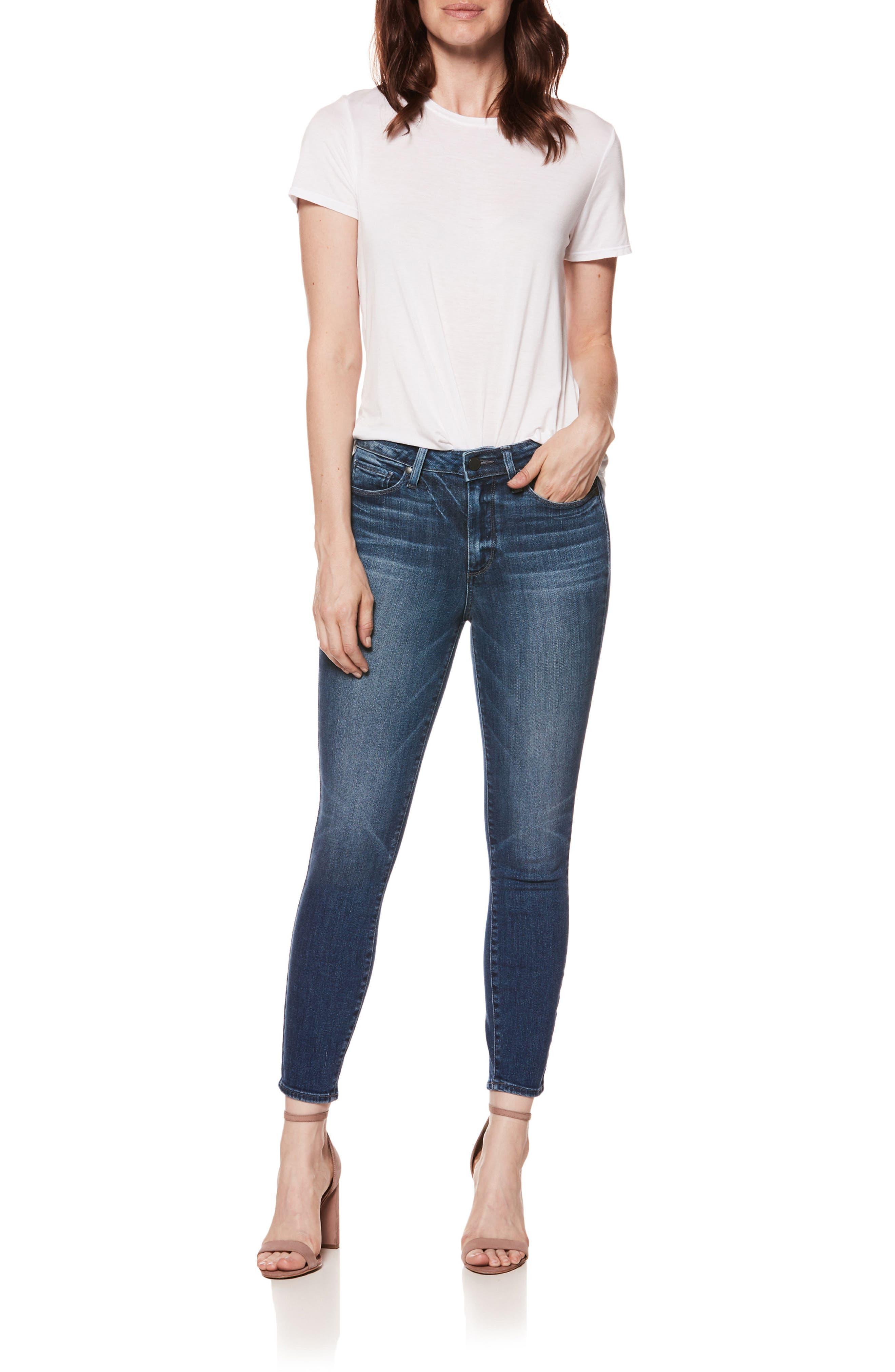 Hoxton High Waist Ankle Skinny Jeans,                             Alternate thumbnail 8, color,                             400