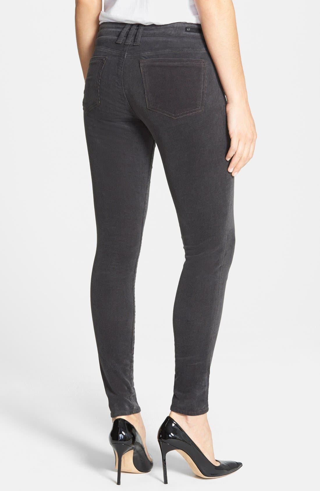 'Diana' Stretch Corduroy Skinny Pants,                             Alternate thumbnail 161, color,