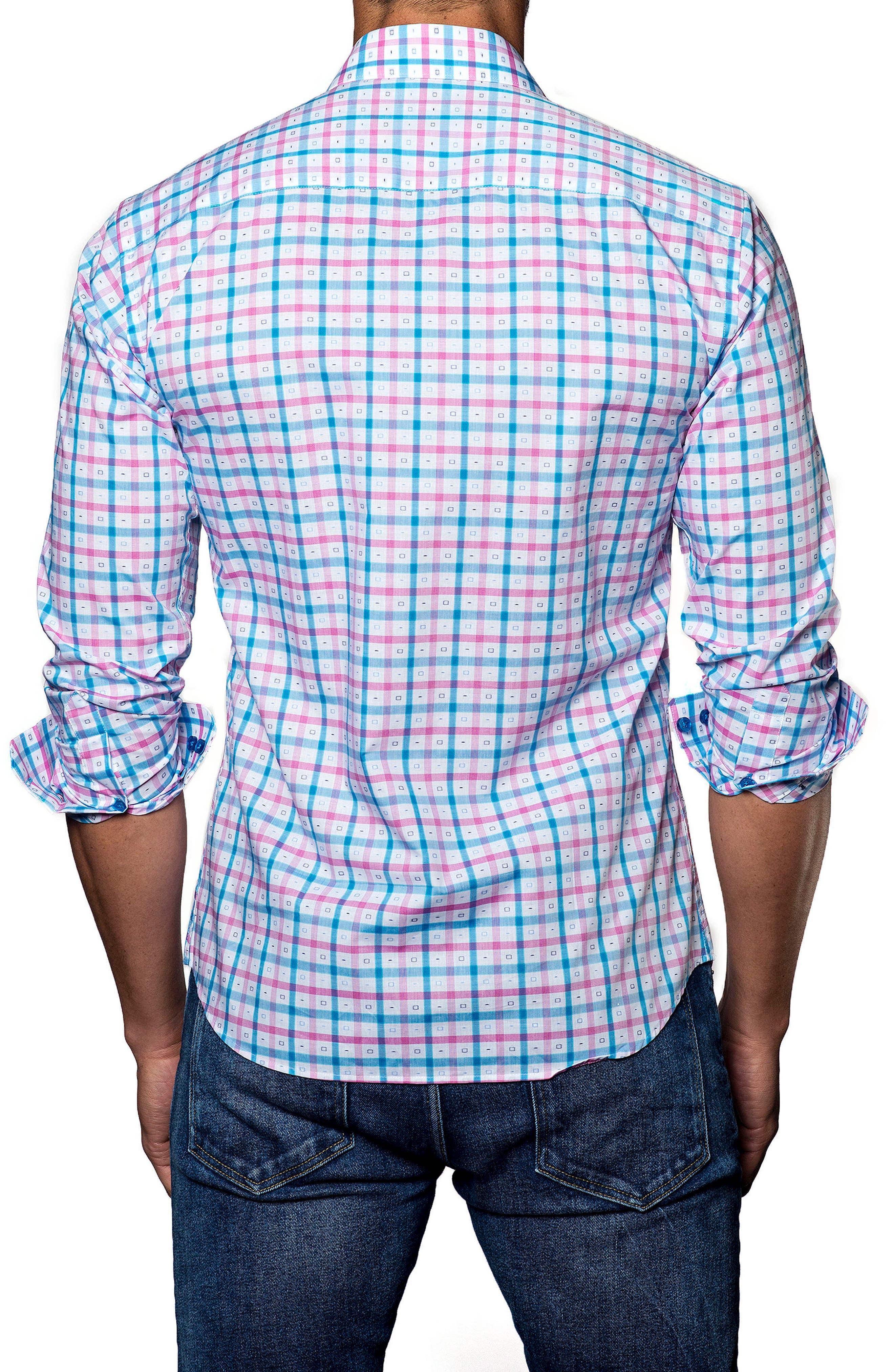 Trim Fit Check Sport Shirt,                             Alternate thumbnail 2, color,                             400