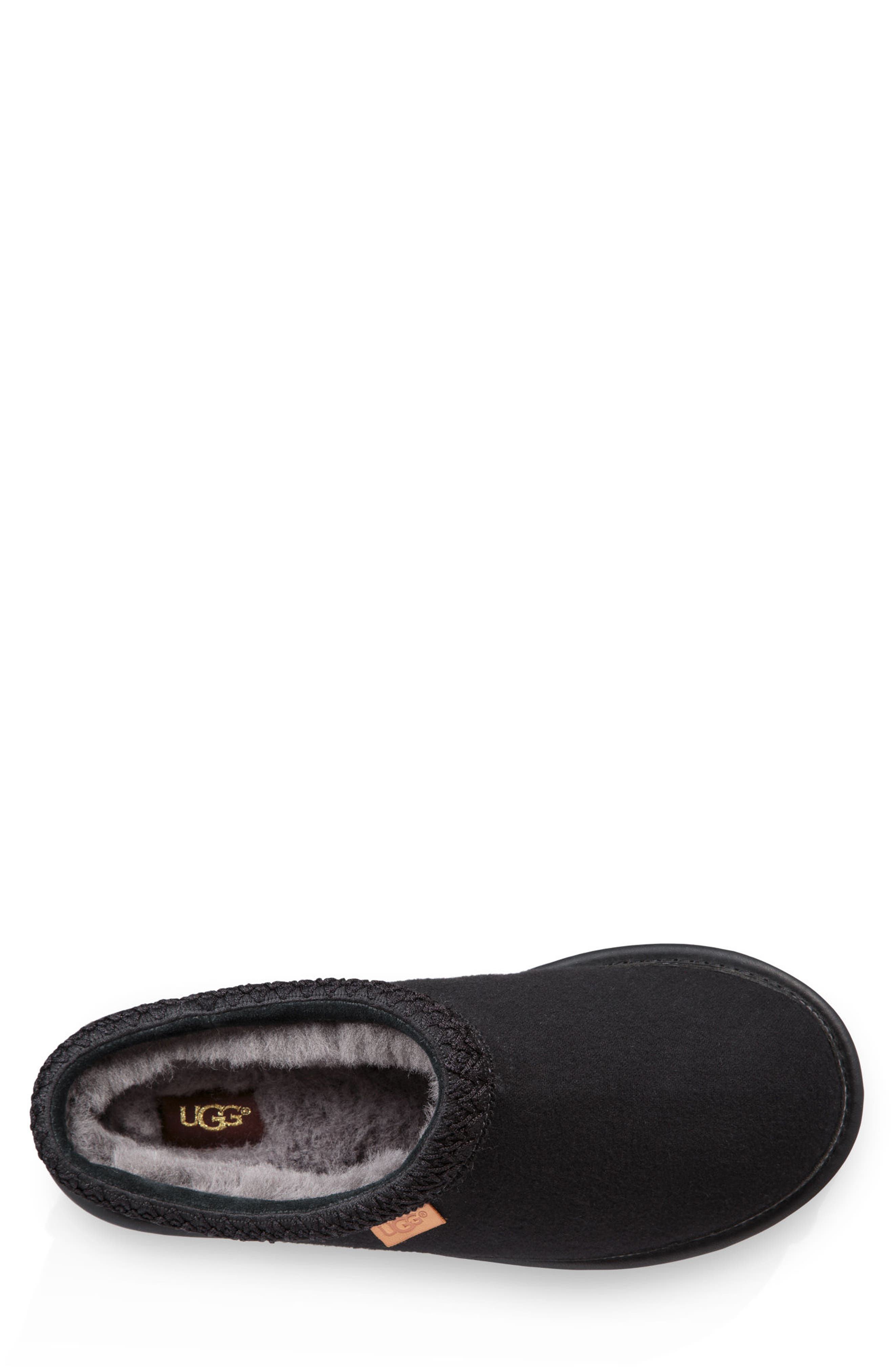 'Tasman' Slipper,                             Alternate thumbnail 4, color,                             BLACK/ BLACK