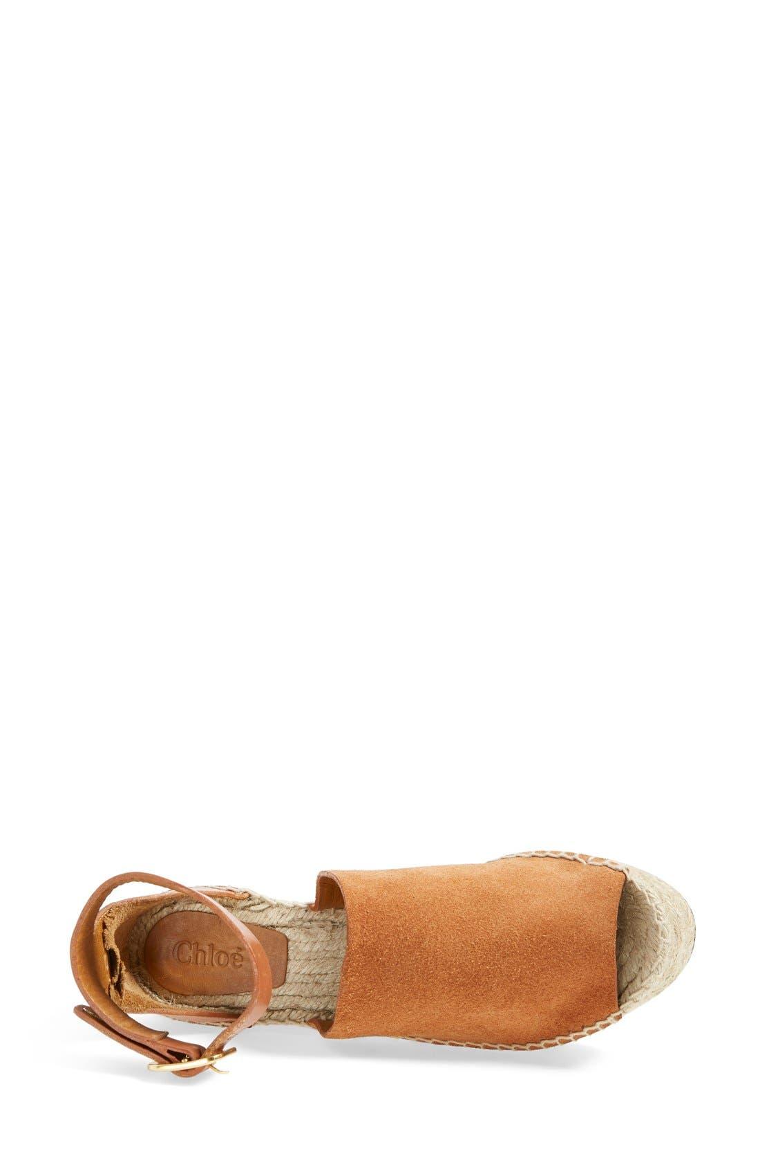 'Isa' Espadrille Wedge Sandal,                             Alternate thumbnail 6, color,                             200