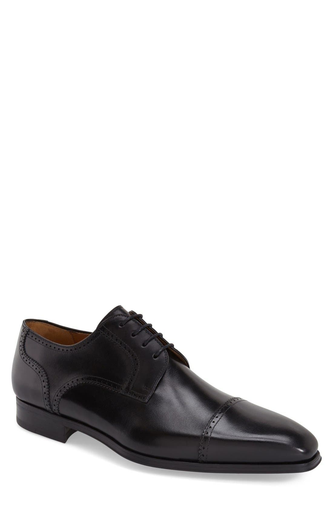 'Carlito' Cap Toe Derby,                         Main,                         color, BLACK
