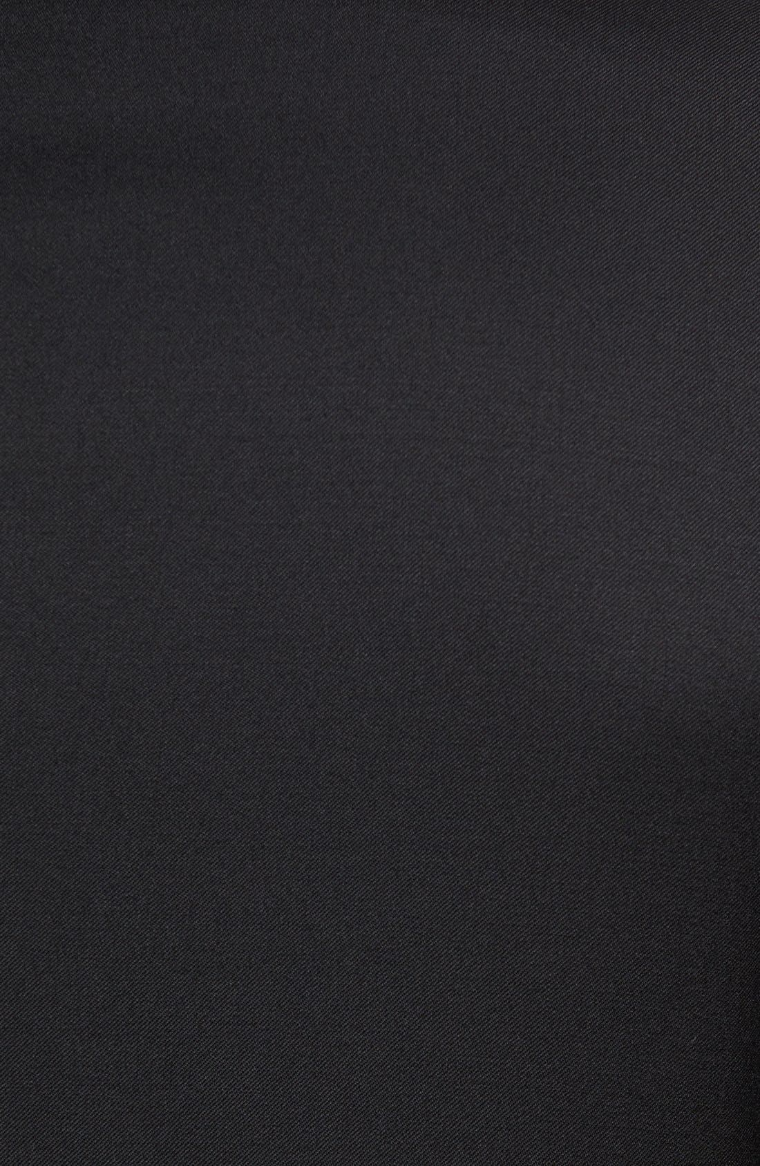 Drop 7 Trim Fit Wool Suit,                             Alternate thumbnail 9, color,                             001
