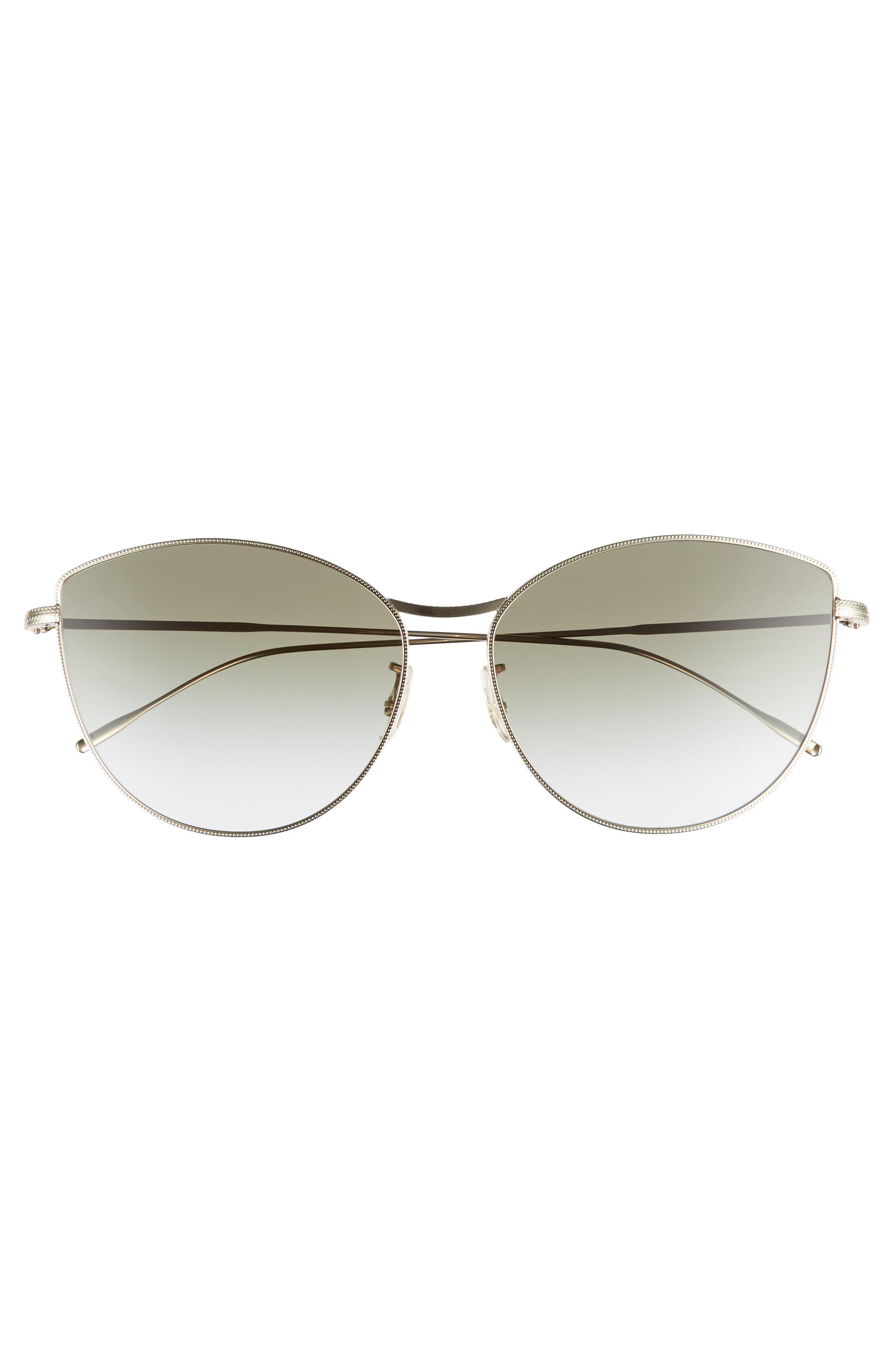 Rayette 60mm Cat Eye Sunglasses,                             Alternate thumbnail 3, color,                             SOFT GOLD OLIVE