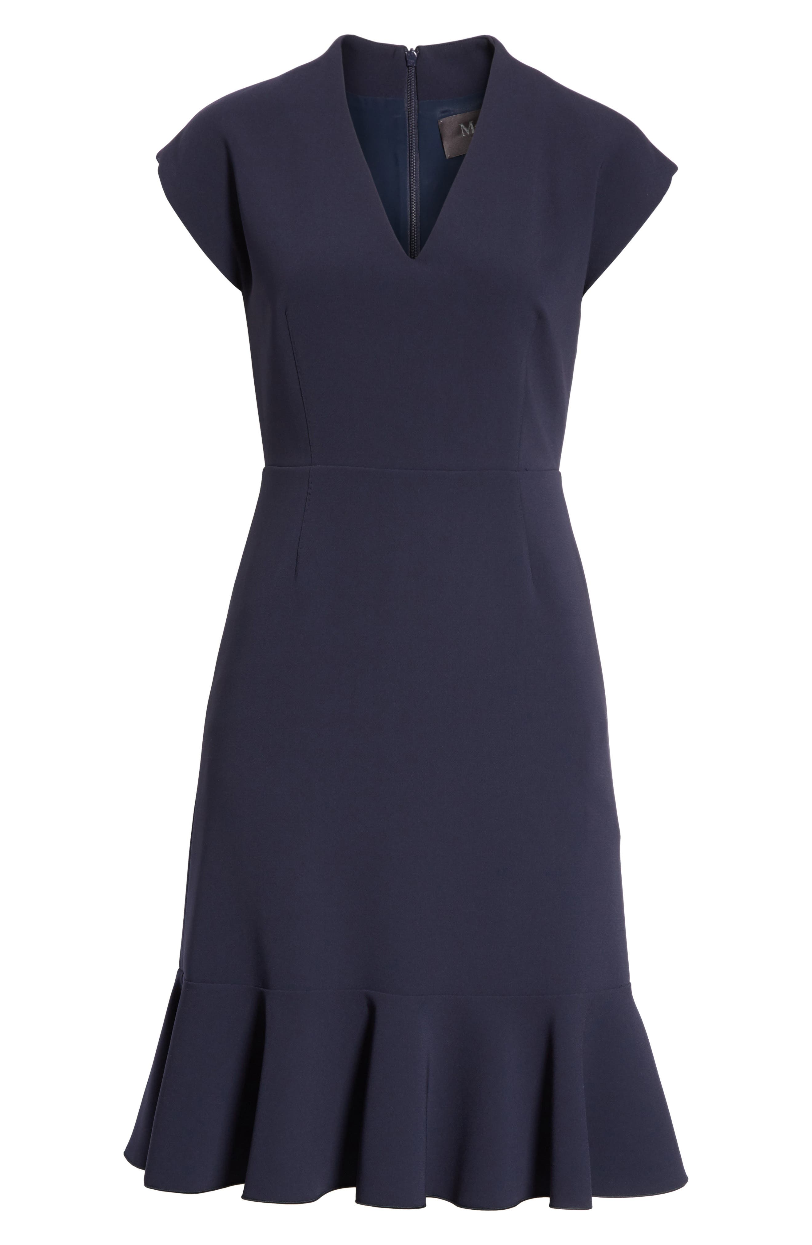 Porta Ruffle Hem Dress,                             Alternate thumbnail 6, color,                             410