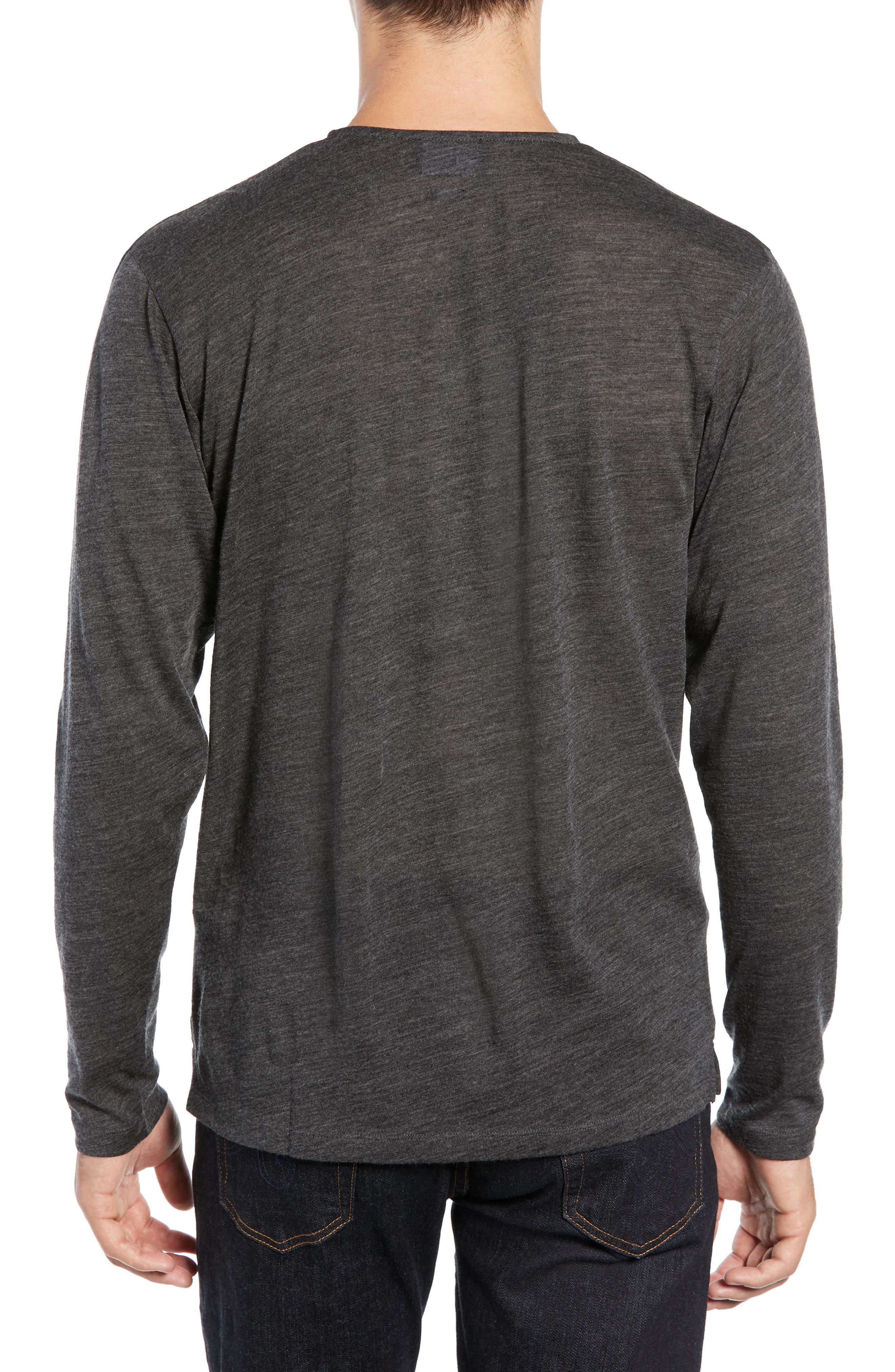 Skull Head Wool Henley T-Shirt,                             Alternate thumbnail 2, color,                             020