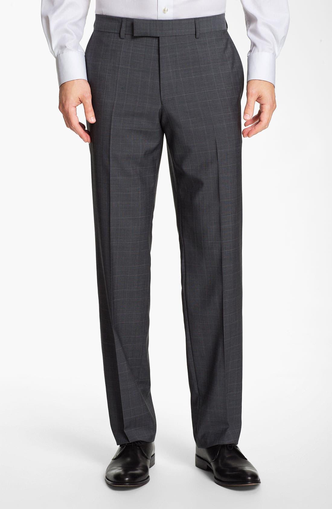 BOSS Black 'Pasini/Movie' Plaid Suit,                             Alternate thumbnail 4, color,                             030