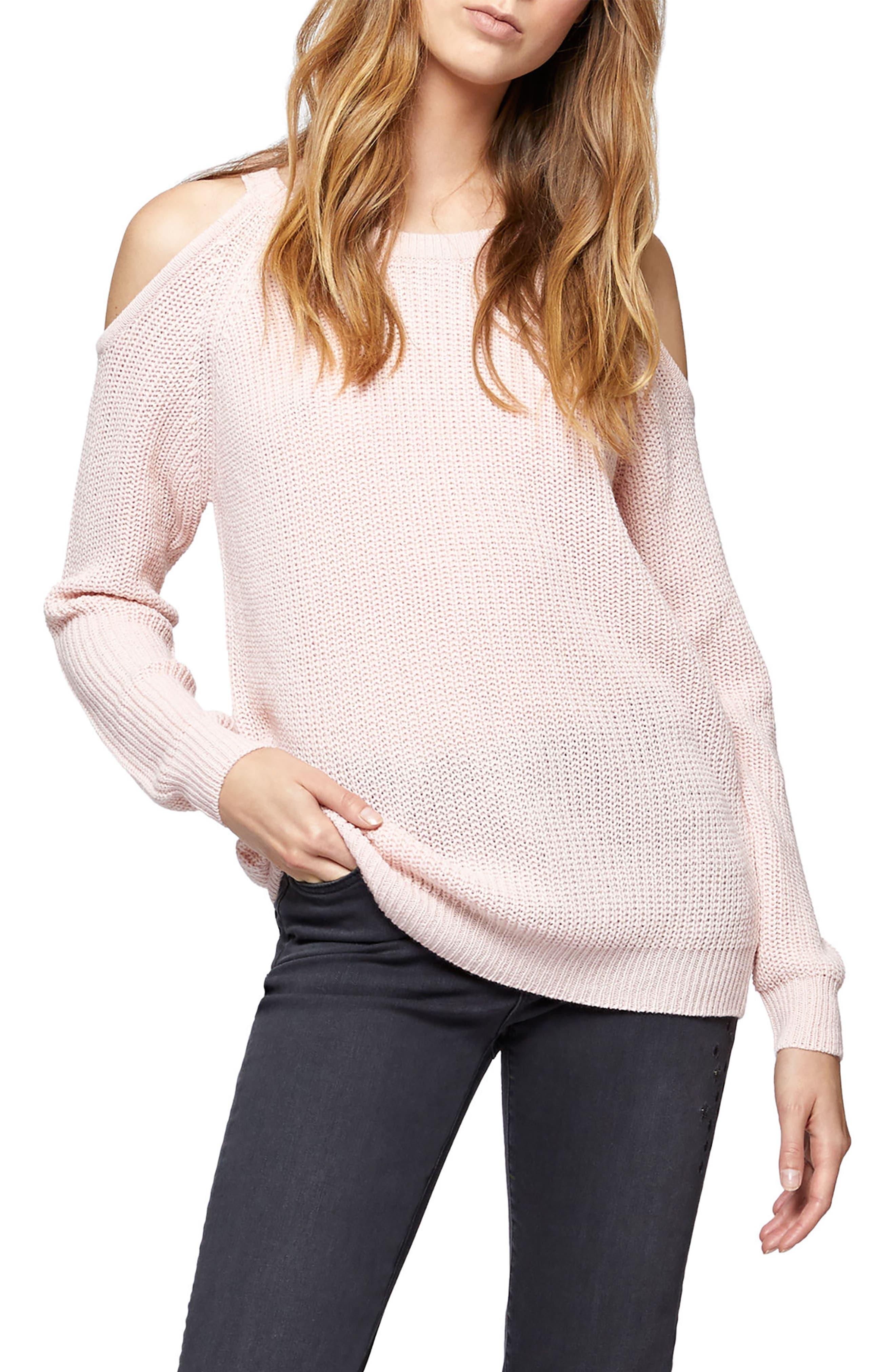 Riley Cold Shoulder Sweater,                             Alternate thumbnail 18, color,