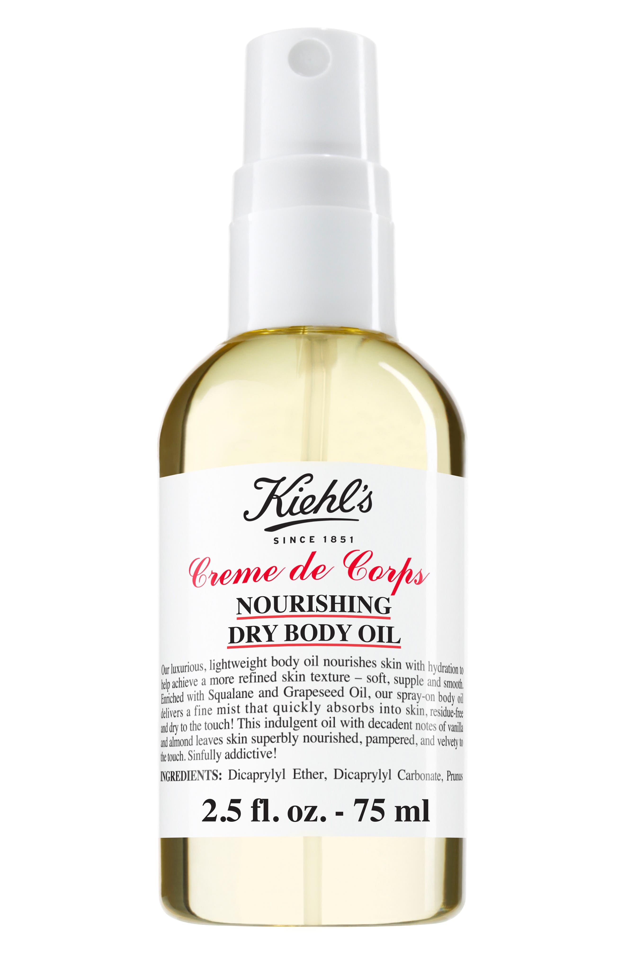 Creme de Corps Nourishing Dry Body Oil,                             Main thumbnail 1, color,                             NO COLOR