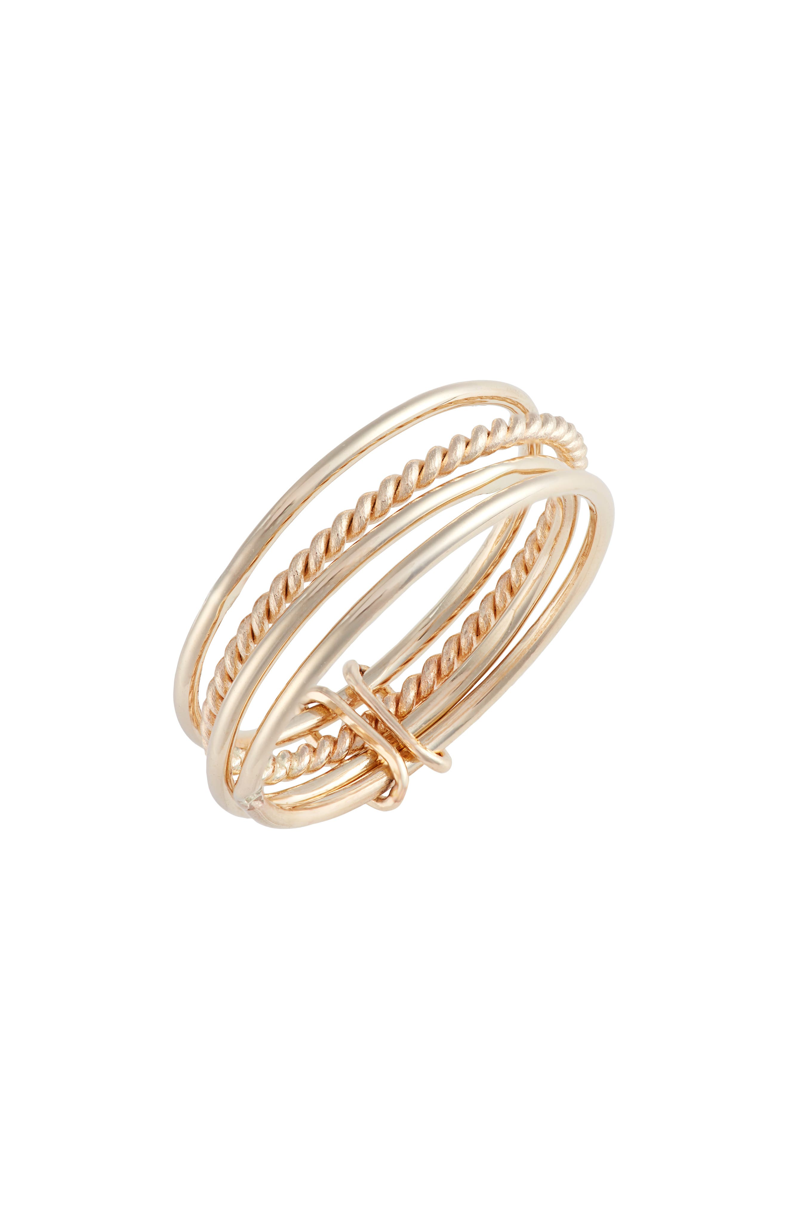 Attached Stacking Rings,                         Main,                         color, YELLOW GOLD