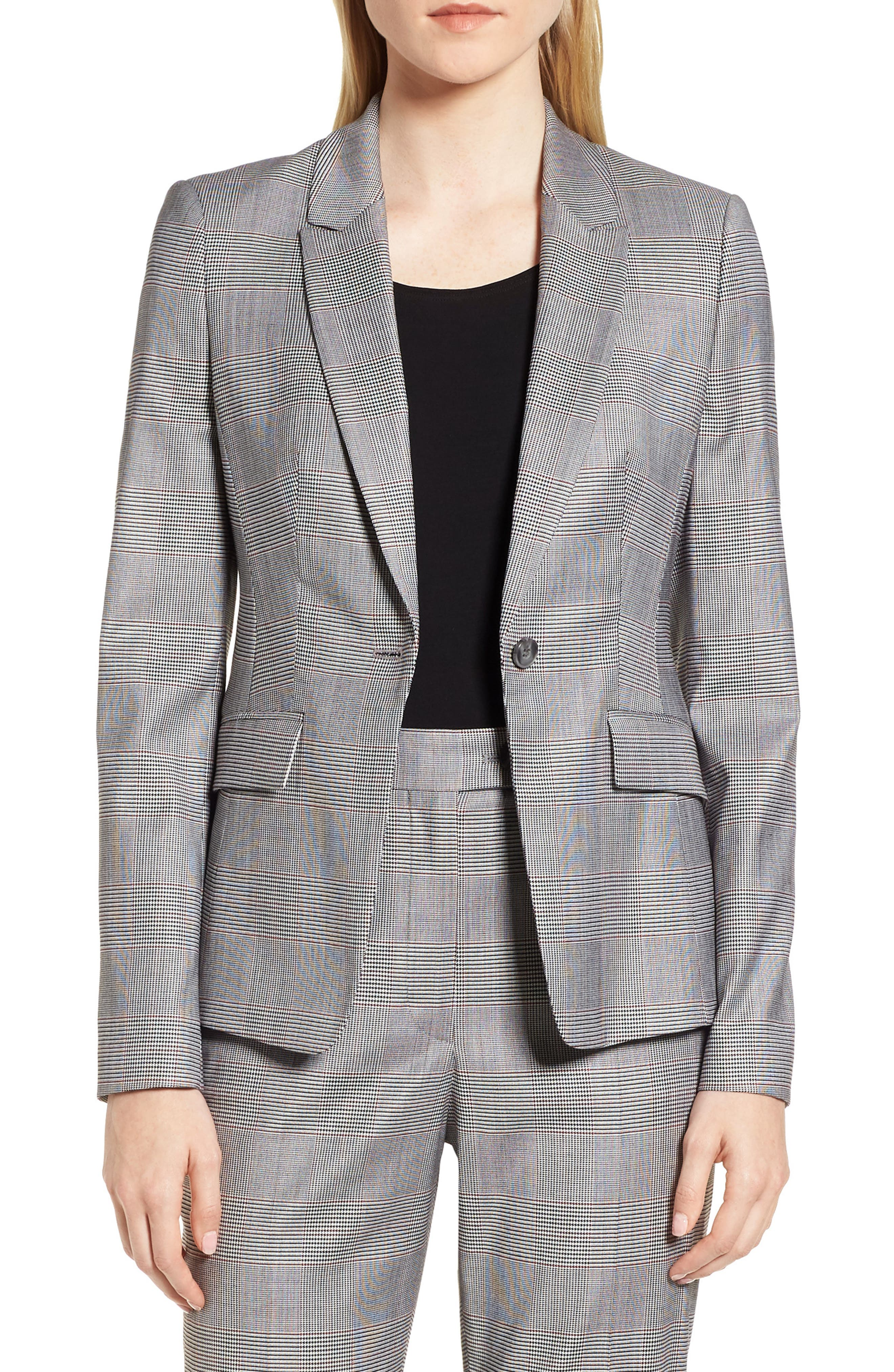 Jofilia Glencheck Jacket,                         Main,                         color, 874