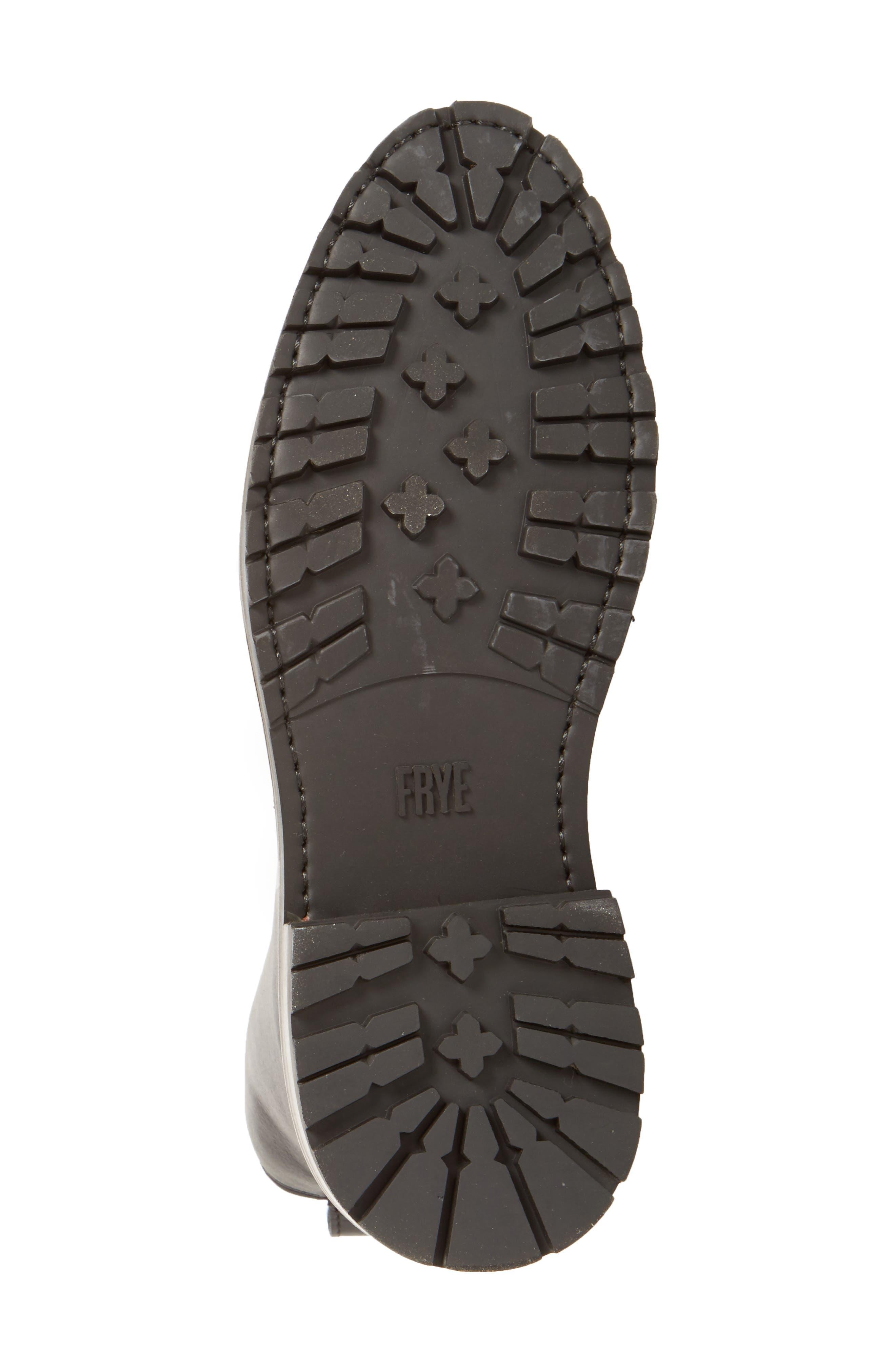 'Julie Combat' Boot,                             Alternate thumbnail 5, color,                             001