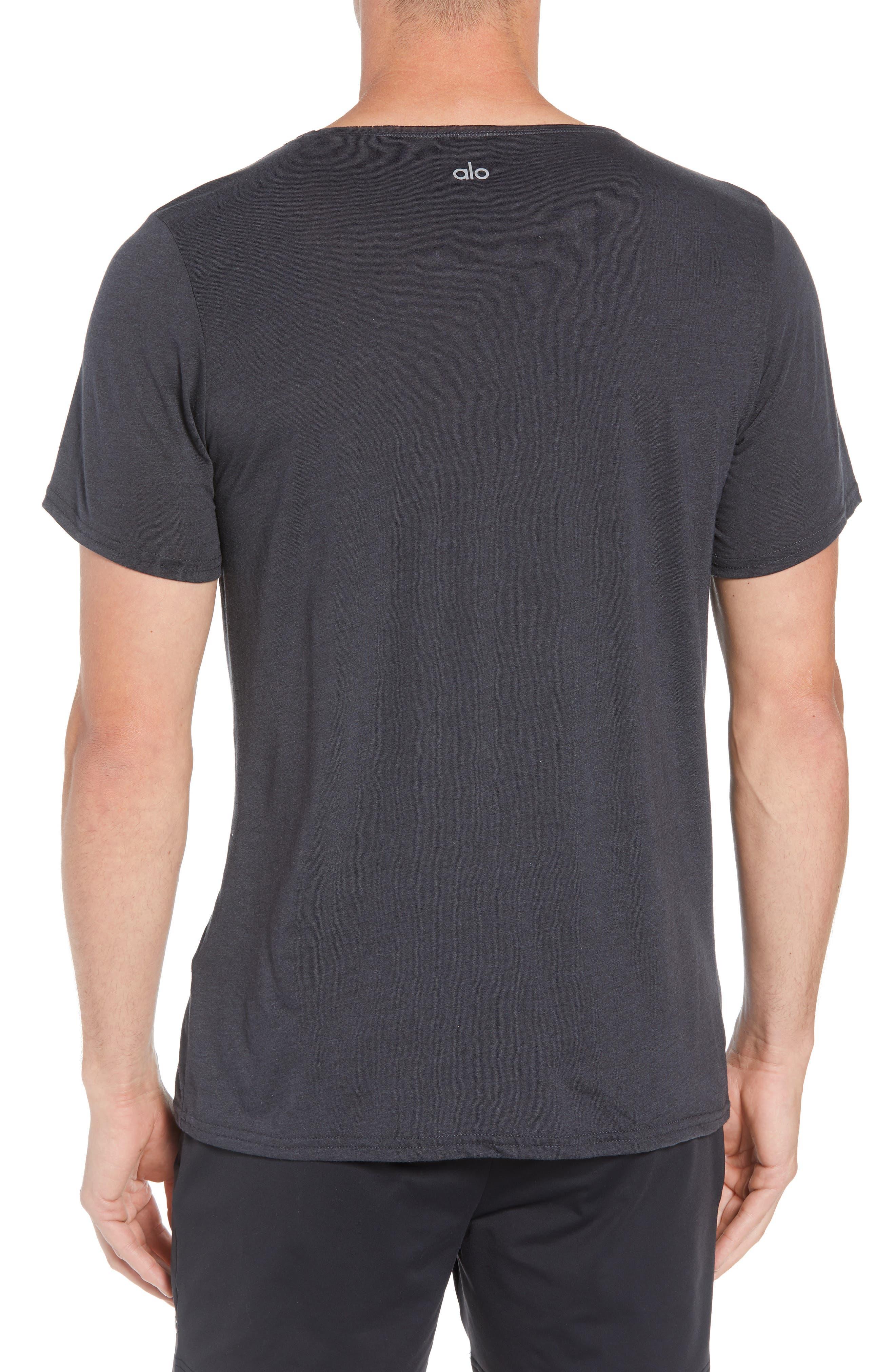 Ultimate T-Shirt,                             Alternate thumbnail 2, color,                             DARK GREY TRIBLEND
