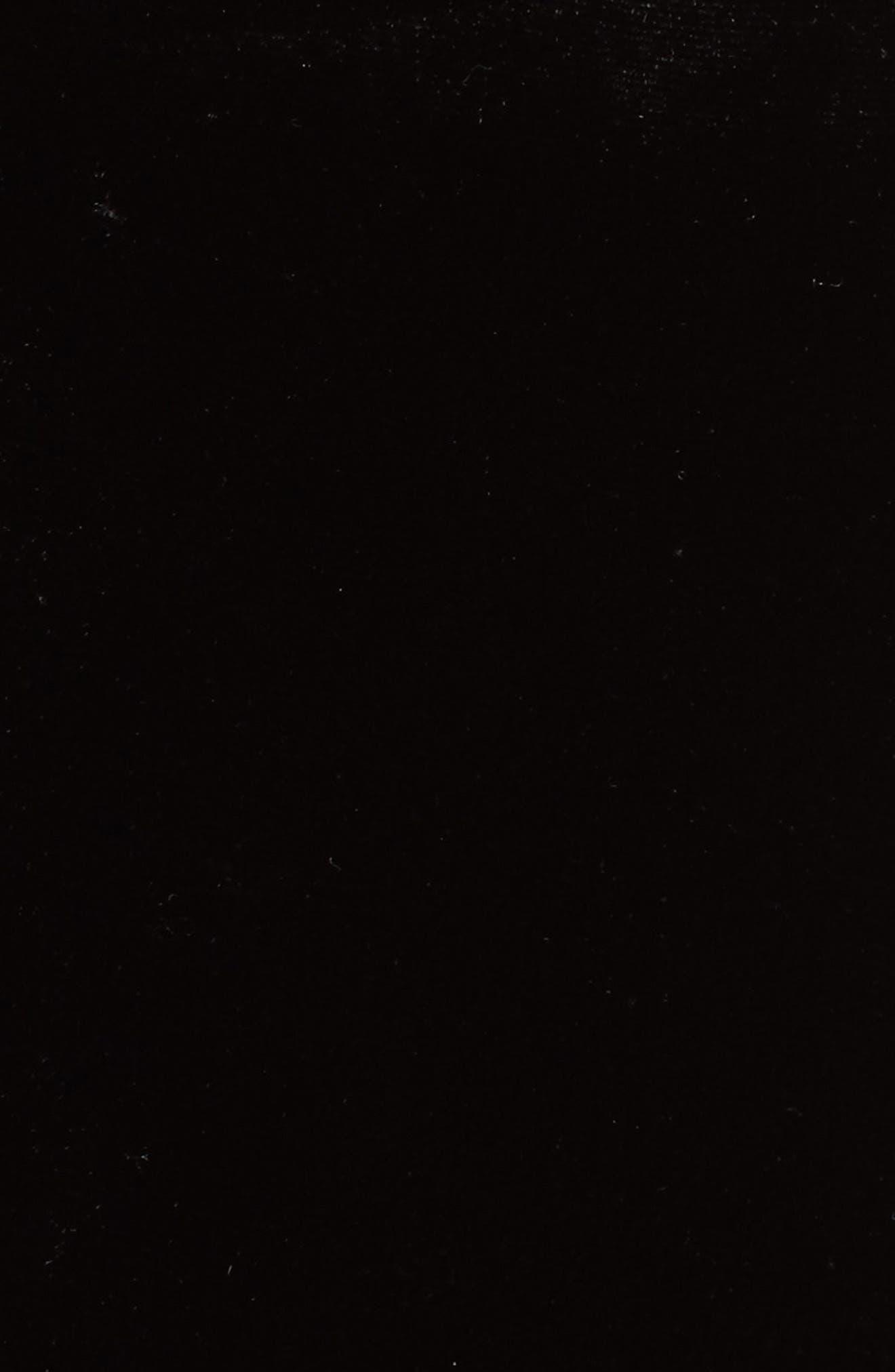 Short Sleeve Velvet & Lace Top,                             Alternate thumbnail 5, color,                             001