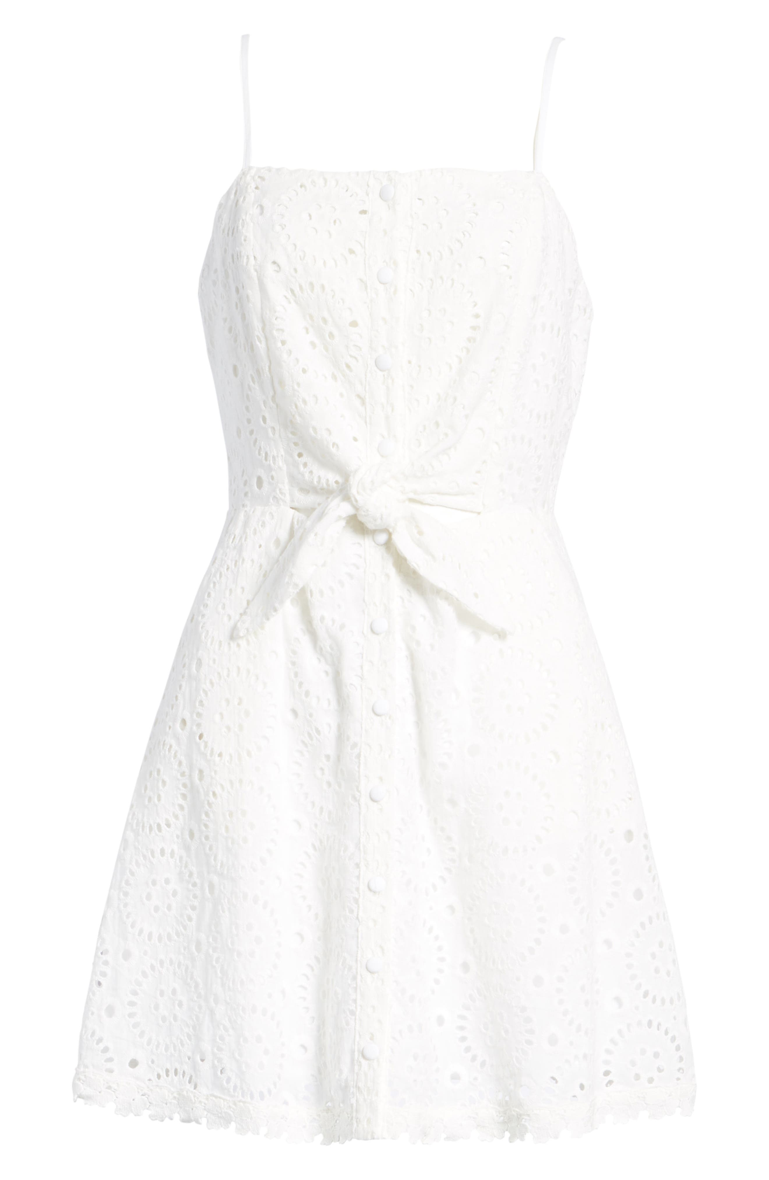 Bianca Eyelet Minidress,                             Alternate thumbnail 6, color,