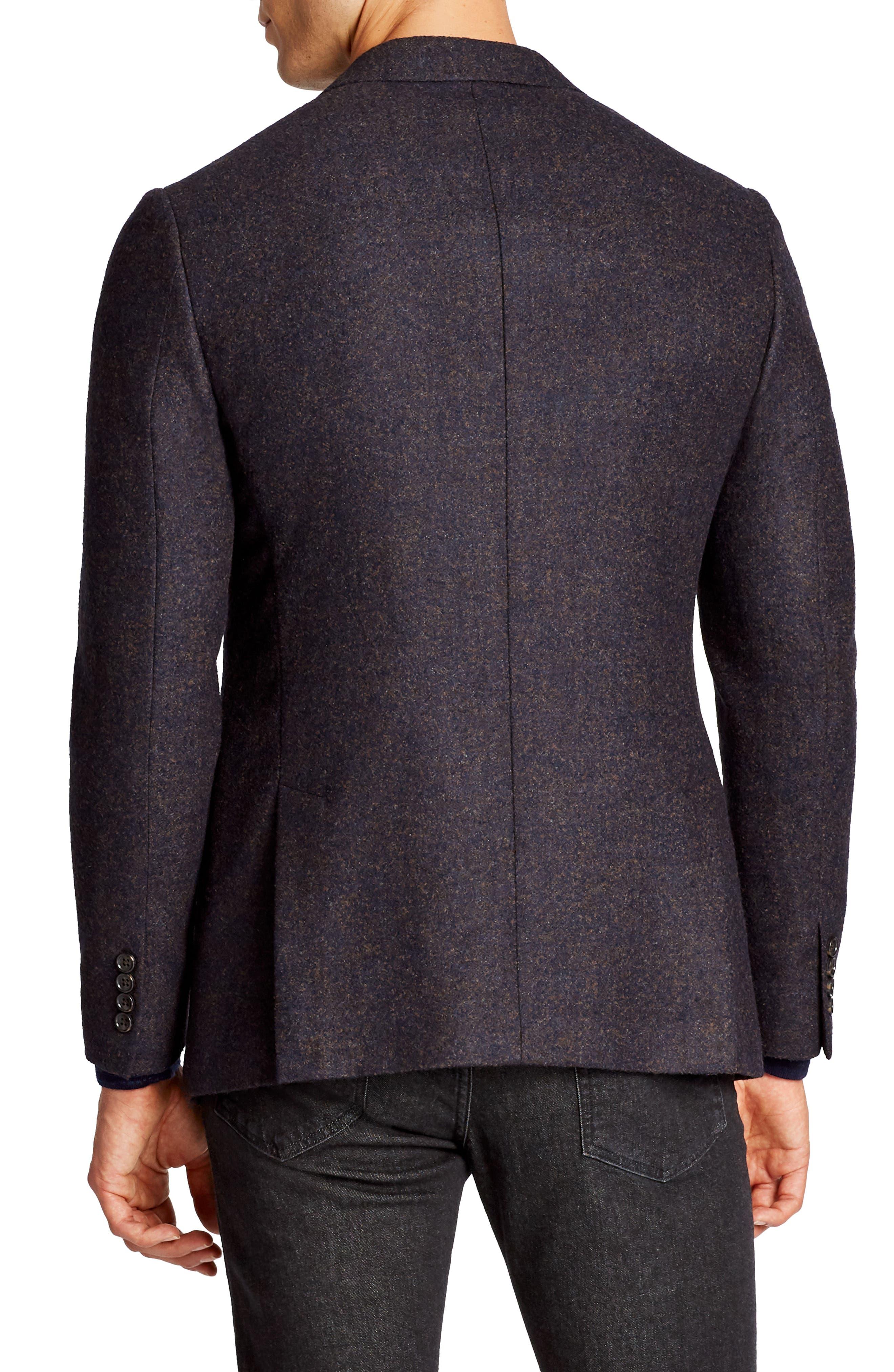 Slim Fit Wool Blend Blazer,                             Alternate thumbnail 2, color,                             400