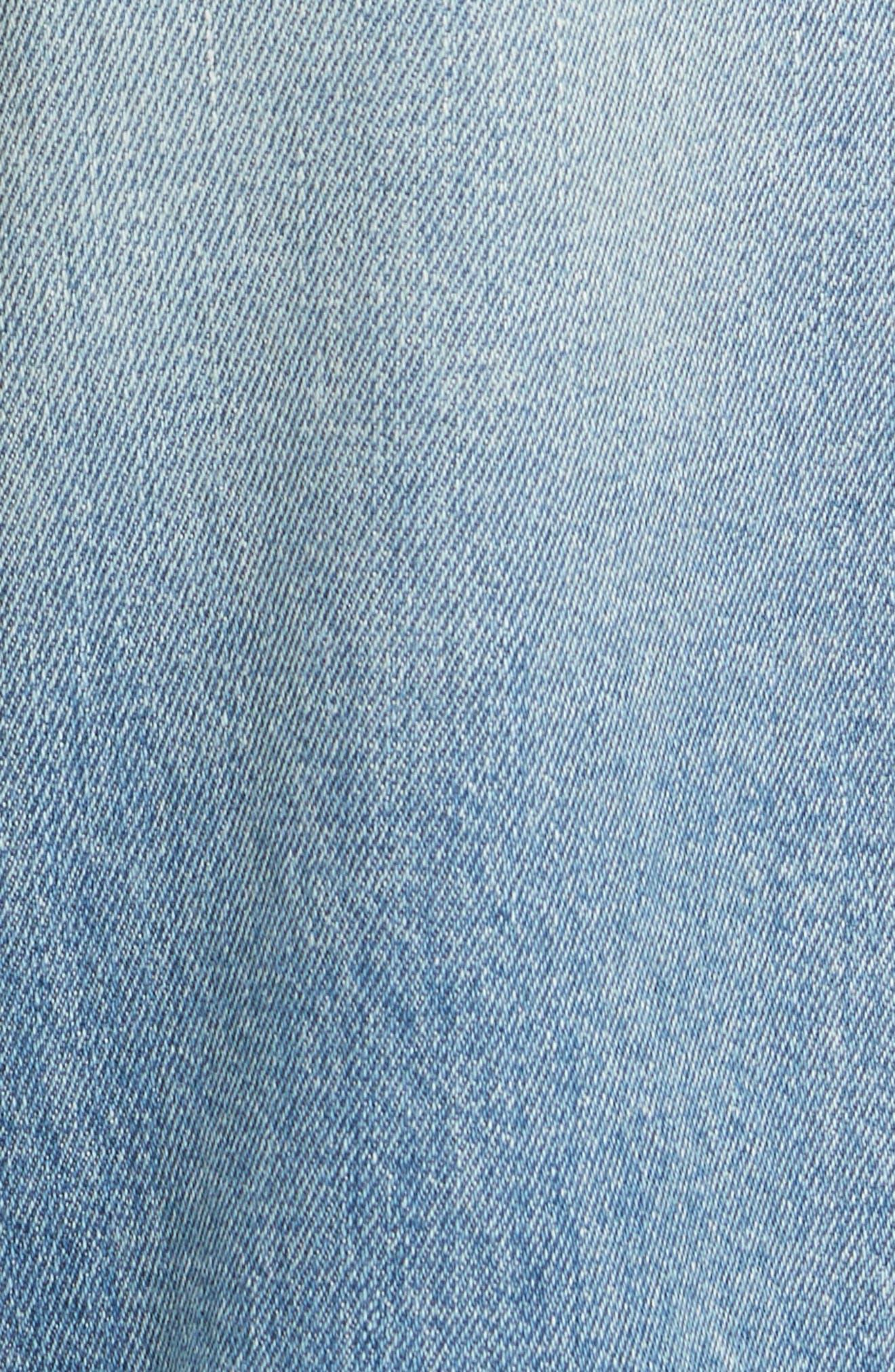 Le High Crop Straight Jeans,                             Alternate thumbnail 5, color,                             450