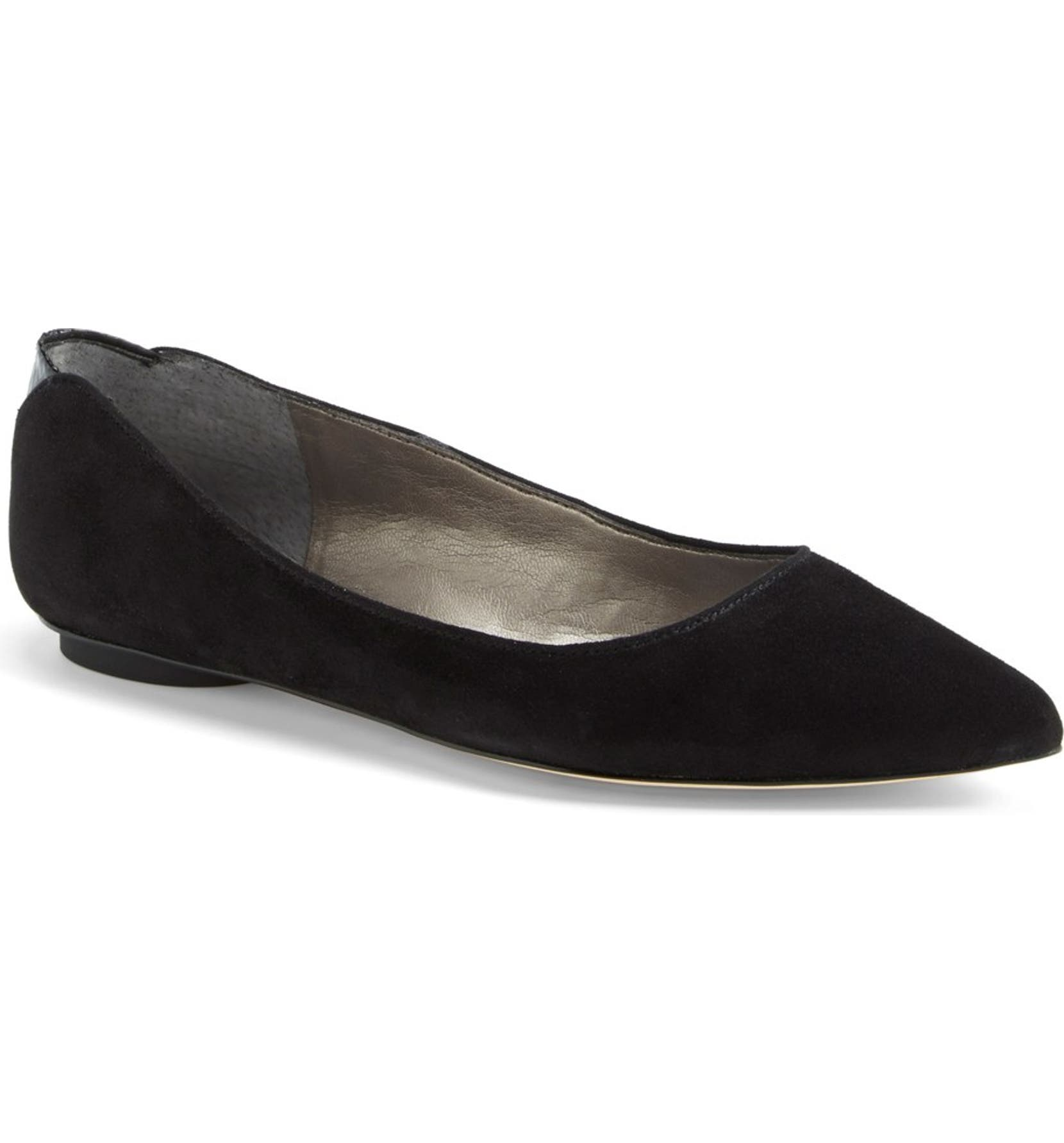 1dce7ef9263994 Sam Edelman  Colleen  Pointy Toe Suede Flat (Women)