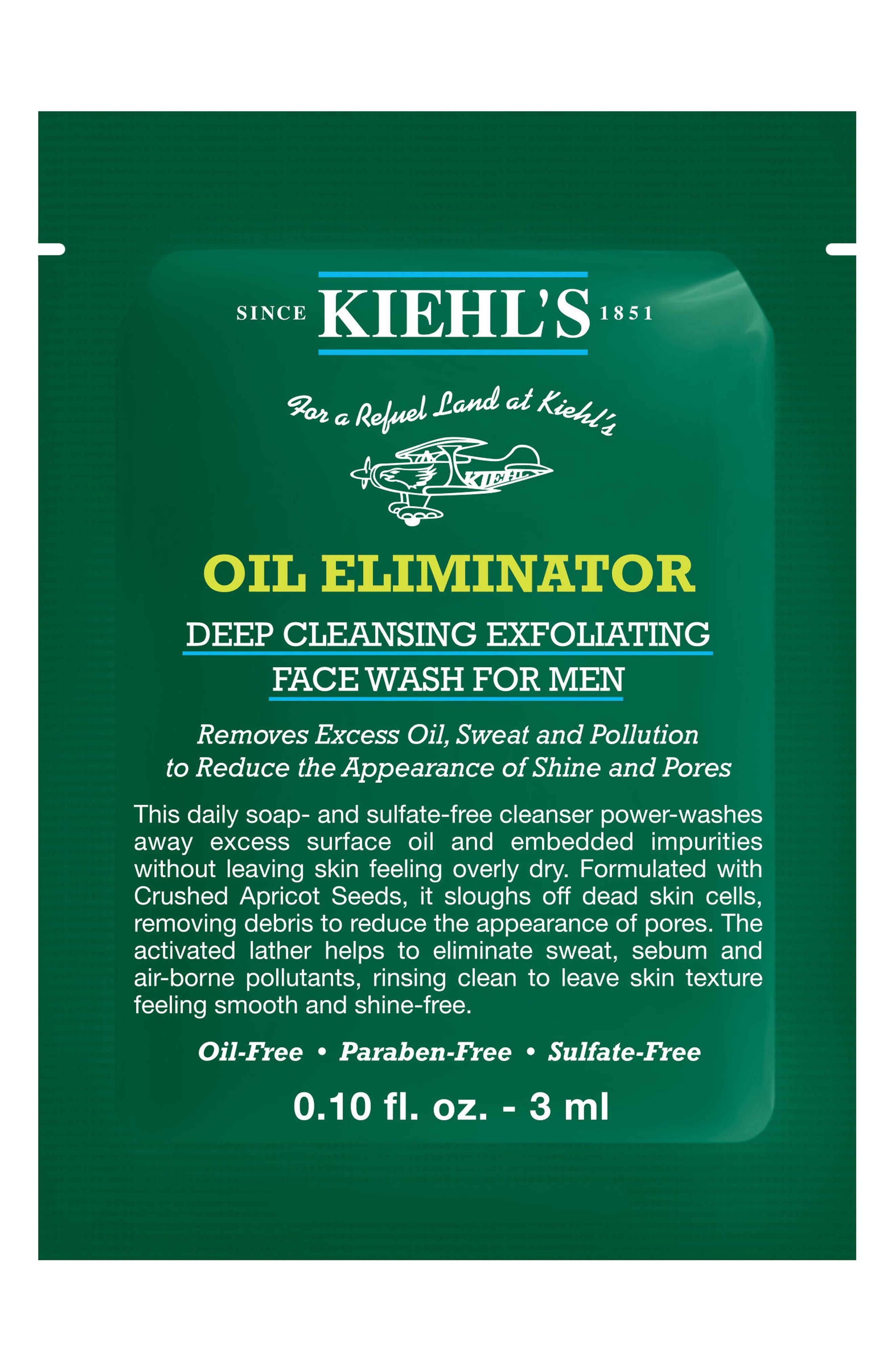 'Oil Eliminator' Deep Cleansing Exfoliating Face Wash for Men,                             Alternate thumbnail 3, color,                             NO COLOR