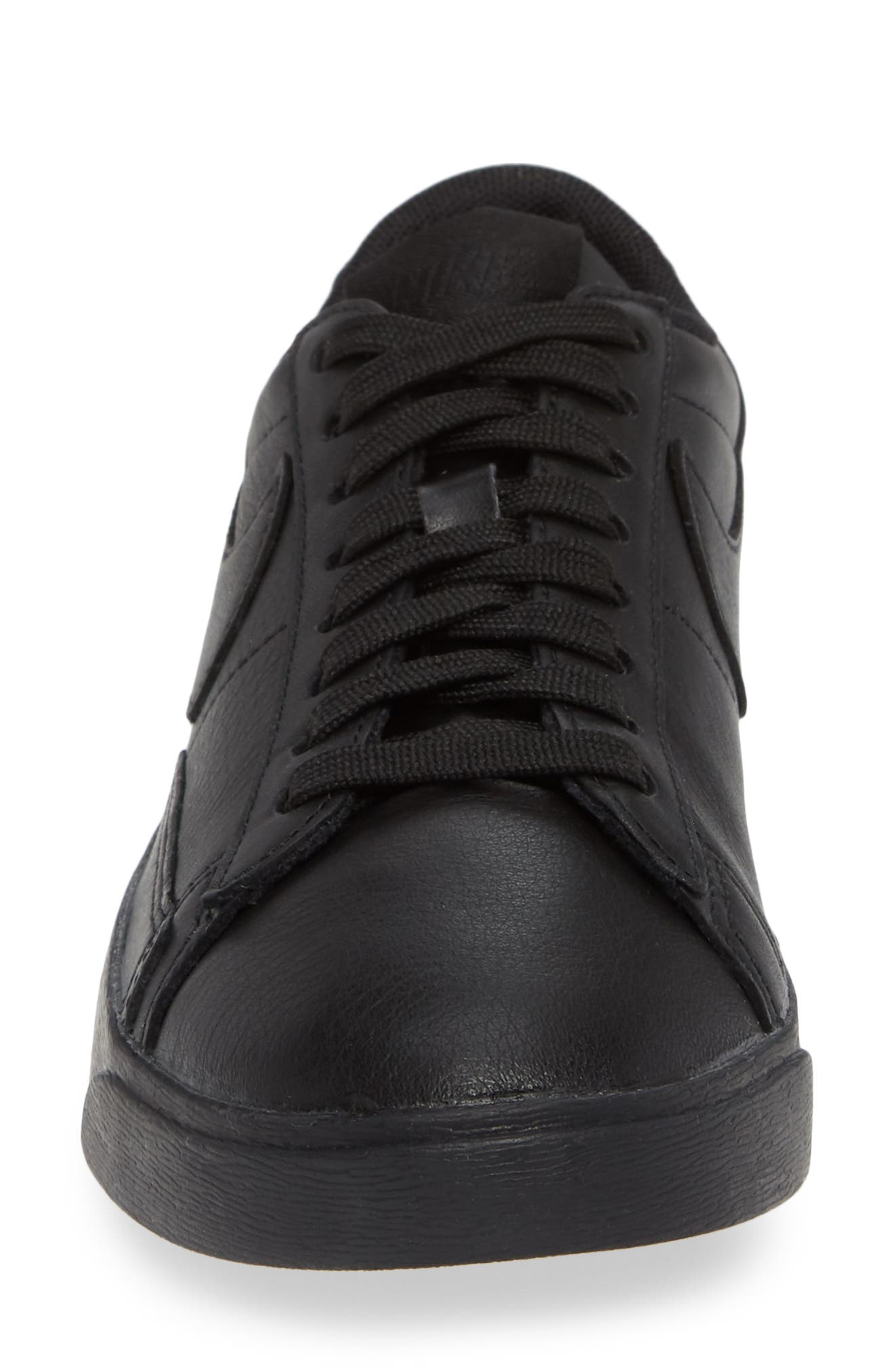 Blazer Low SE Sneaker,                             Alternate thumbnail 4, color,                             BLACK/ BLACK-BLACK