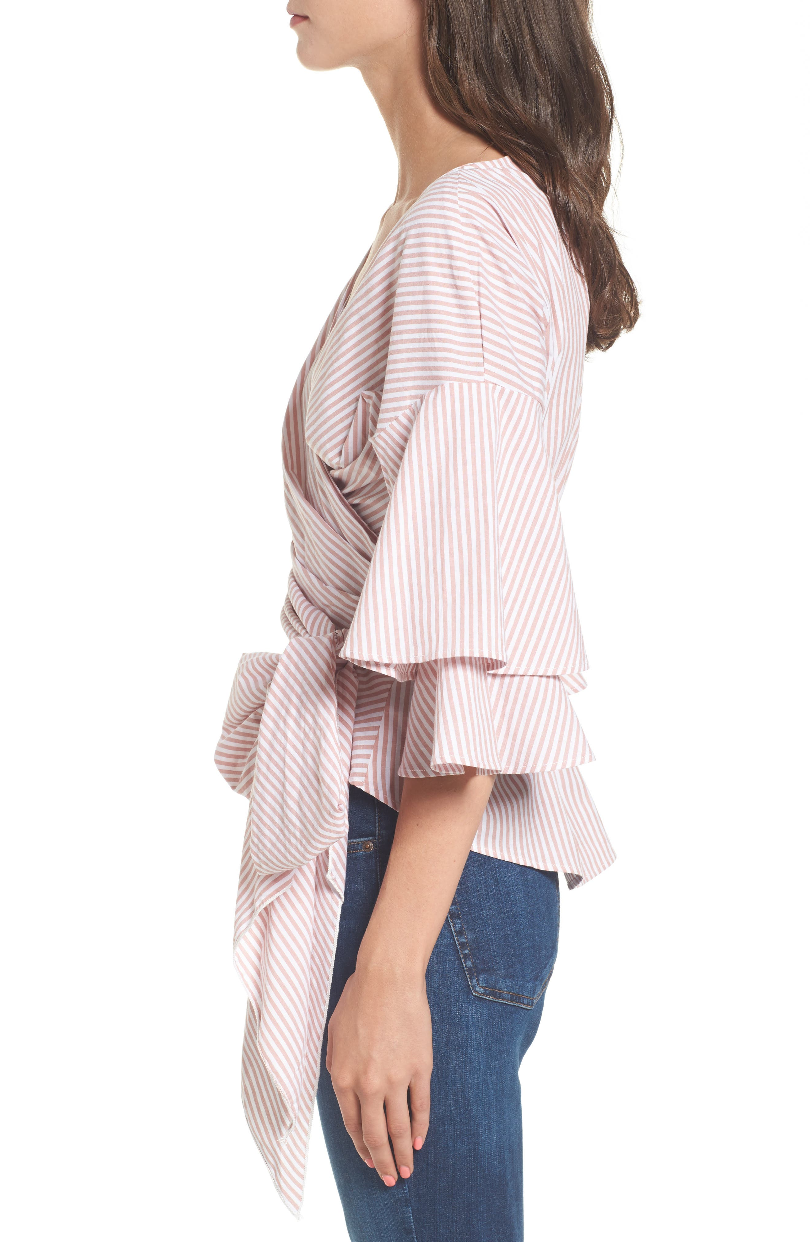 Beckett Tiered Bell Sleeve Top,                             Alternate thumbnail 20, color,