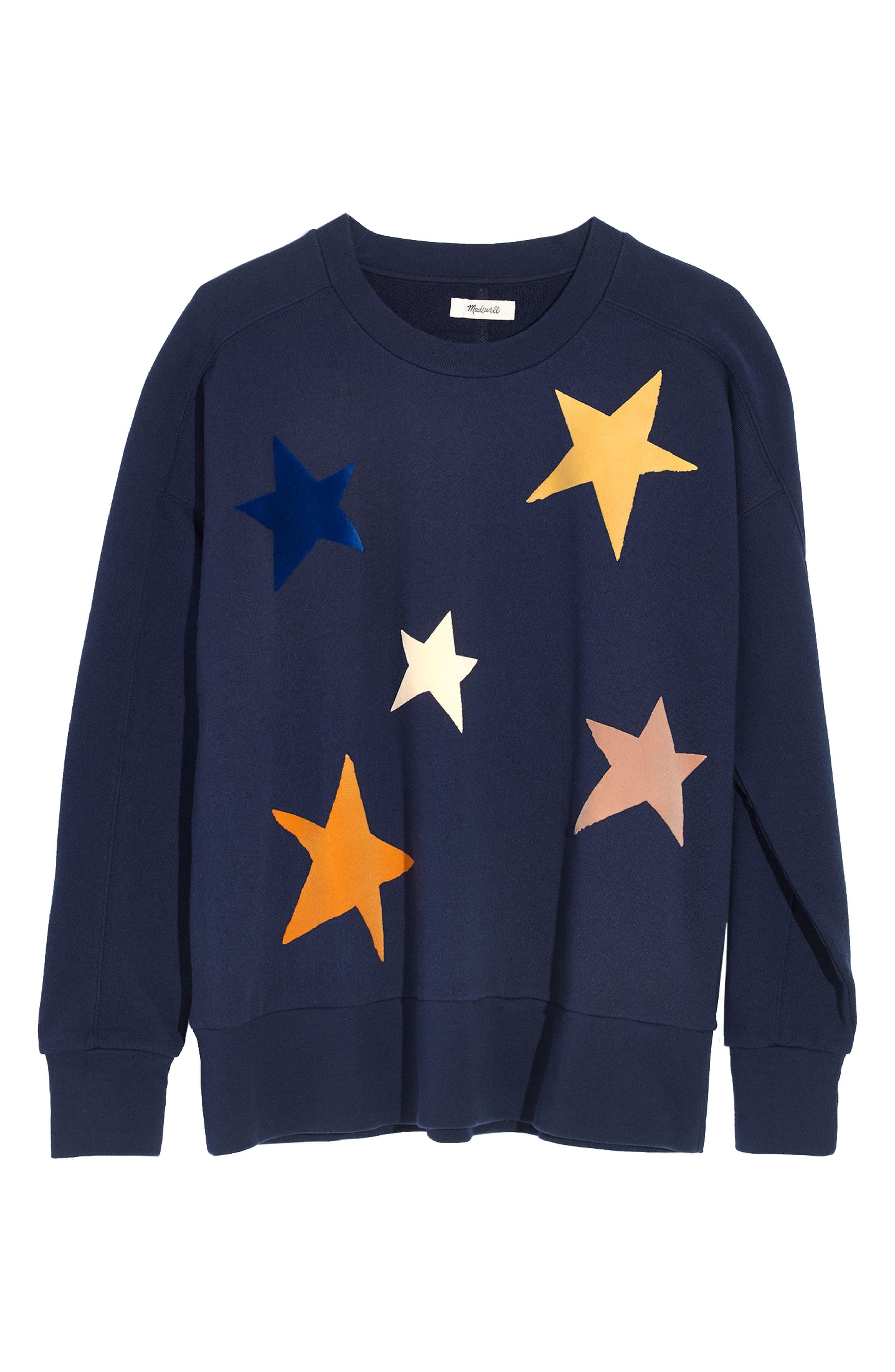 Starry Sweatshirt,                             Alternate thumbnail 3, color,                             410
