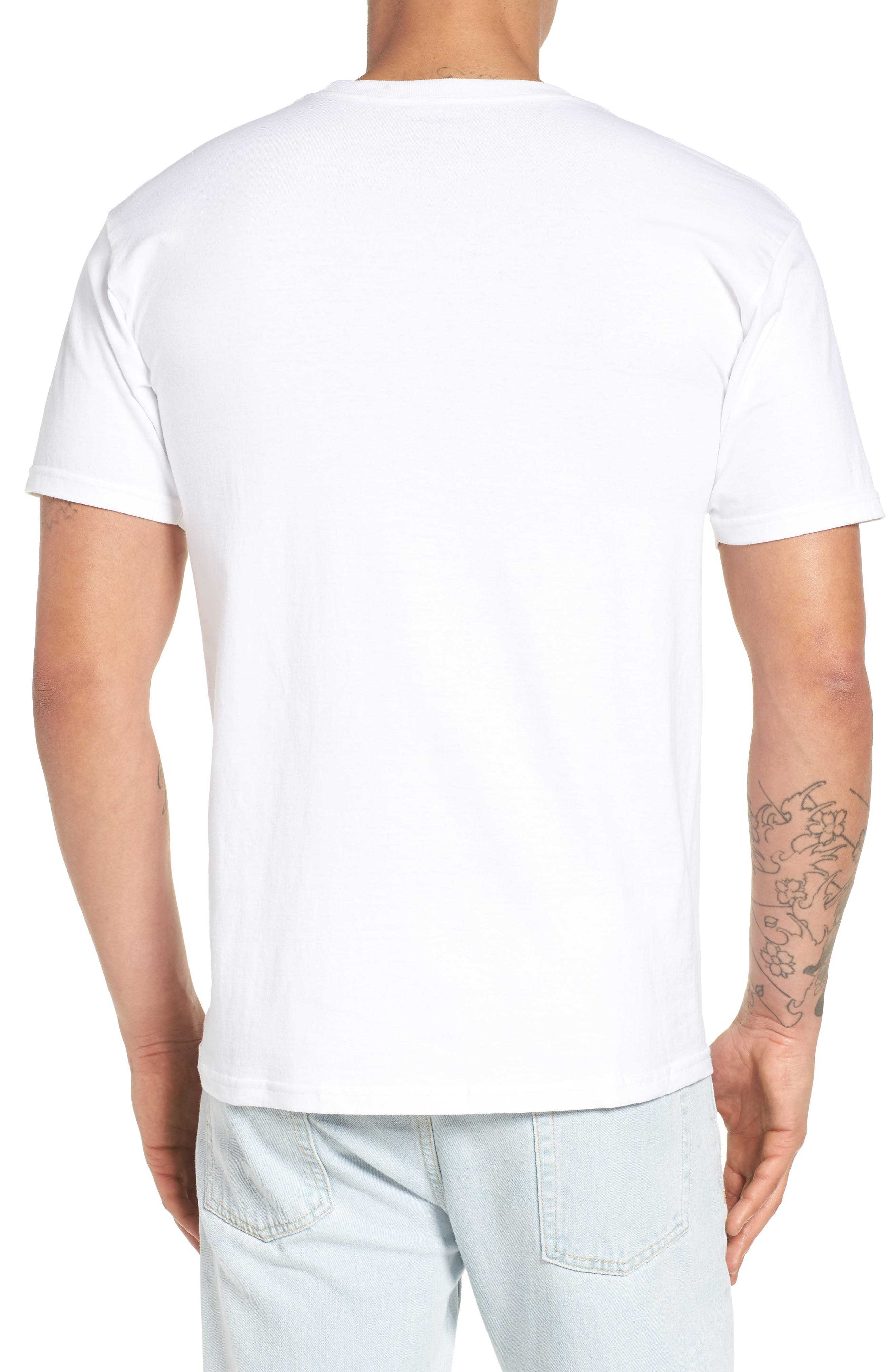 Original Fitness Graphic T-Shirt,                             Alternate thumbnail 2, color,                             WHITE/ BLACK/ CHINESE RED