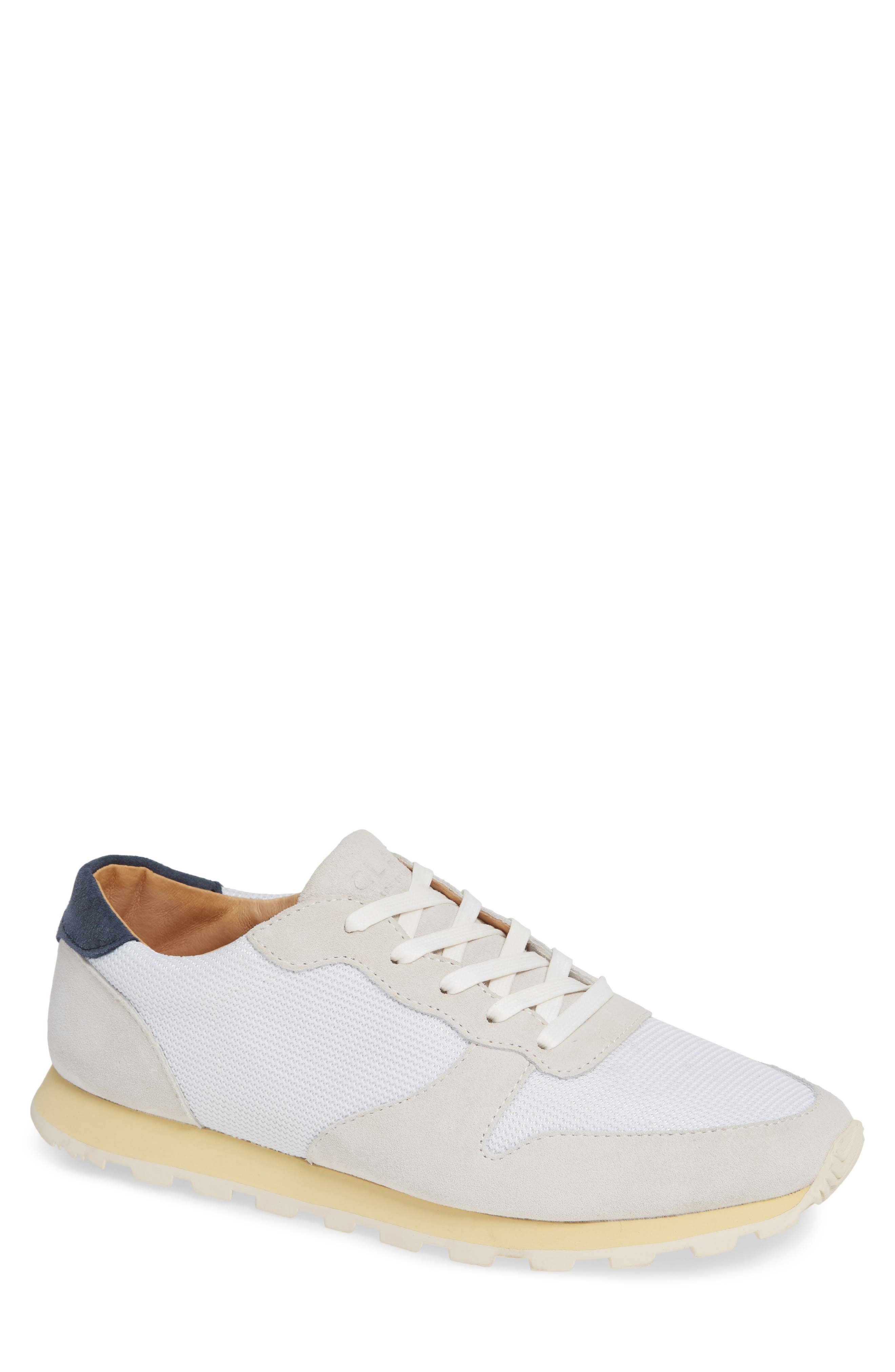Hayward Sneaker,                         Main,                         color, WHITE SUEDE NAVY